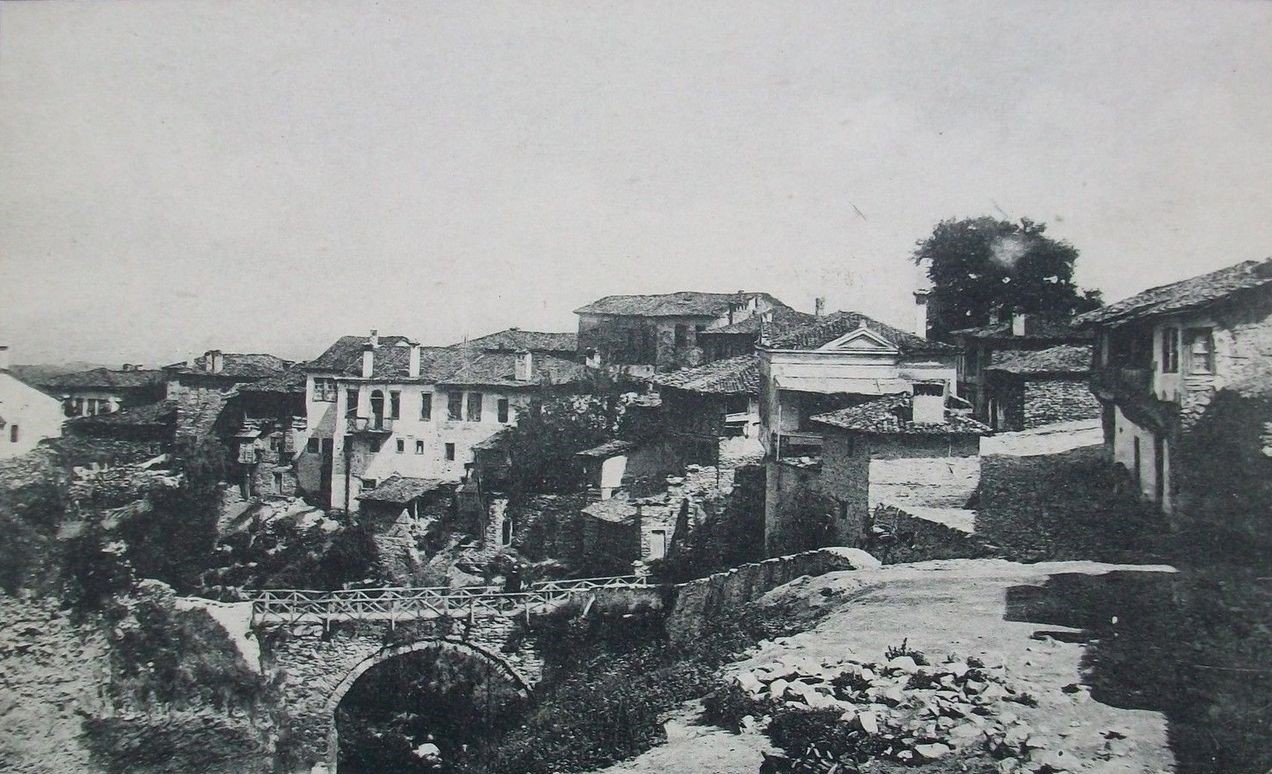 Servia, where Mehmet Ali Ayni was born, photographed during the Ottoman period.
