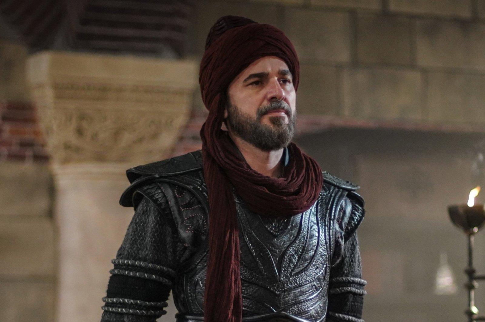 """Engin Altan Düzyatan as Ertuğrul Gazi in a still shot from """"Diriliş Ertuğrul."""""""