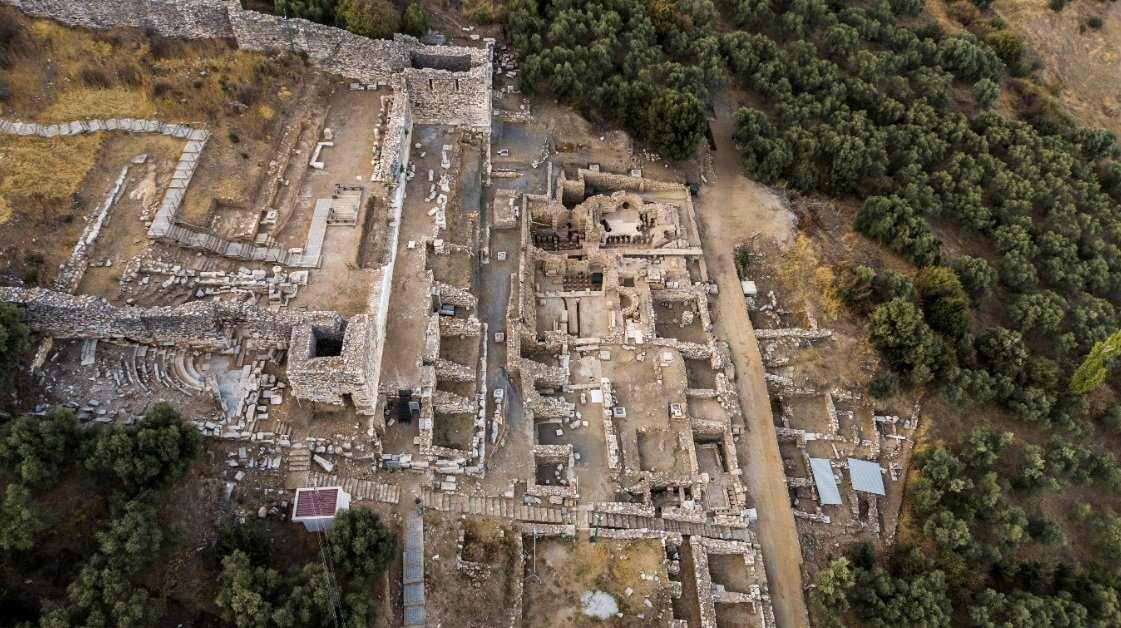 Four previously unknown cisterns have been discovered in Metropolis in modern-day Izmir province of western Turkey, Dec. 28, 2020. (DHA Photo)