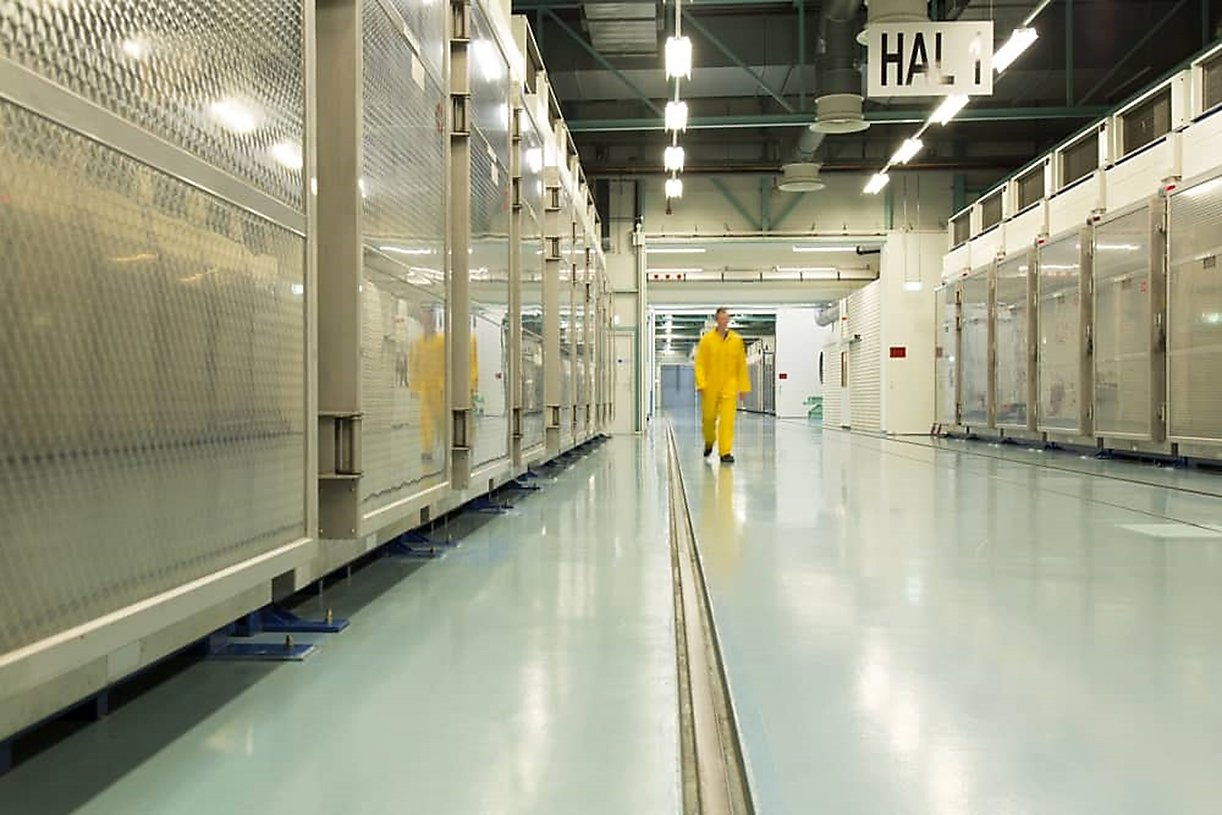 A file handout picture released by Iran's Atomic Energy Organization on November 6, 2019, shows the interior of the Fordow (Fordo) Uranium Conversion Facility in Qom, in the north of the country. (AFP Photo / HO / Atomic Energy Organization of Iran)