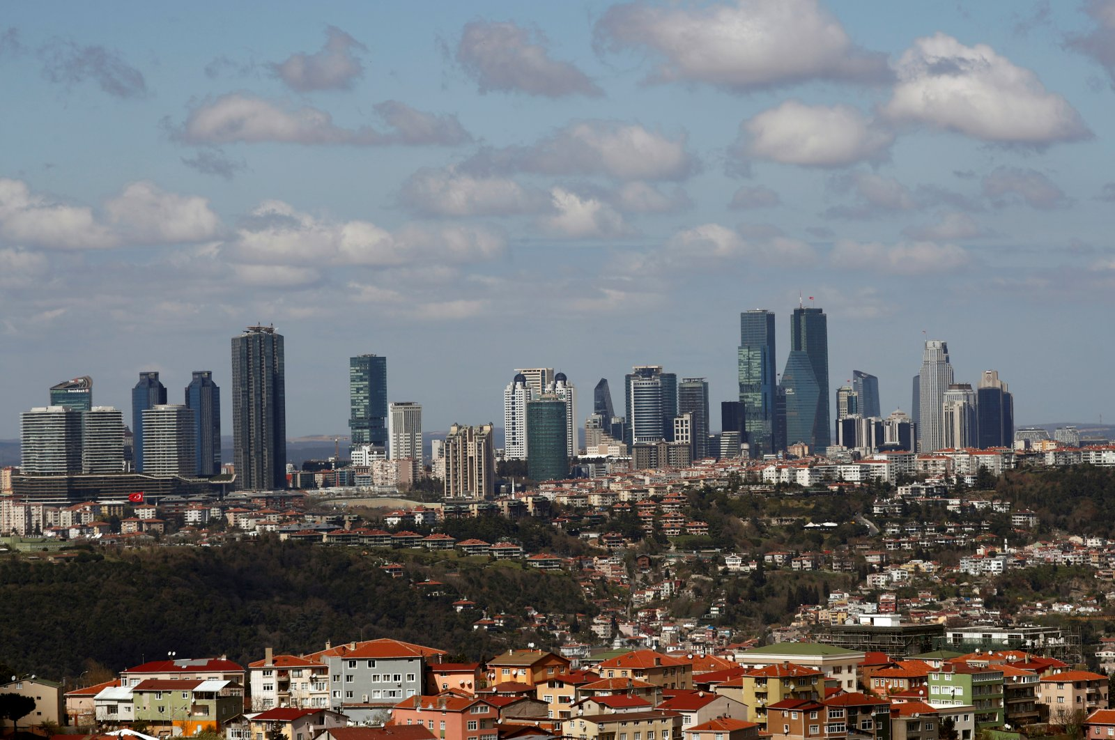 Skyscrapers are seen in the business and financial district of Levent, which comprises of leading banks' and companies' headquarters, in Istanbul, Turkey, March 29, 2019. (Reuters Photo)