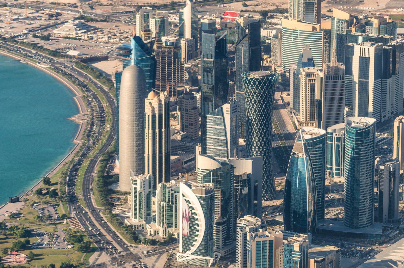 The skyline of Qatari capital Doha.  (Shutterstock Photo)