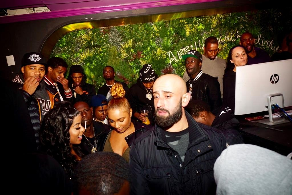 Şahiner (front R) provides security to many artists, including famous rappers like Cardi B, A Boogie wit da Hoodie and YBS Skola, Jan. 3, 2021. (DHA Photo)