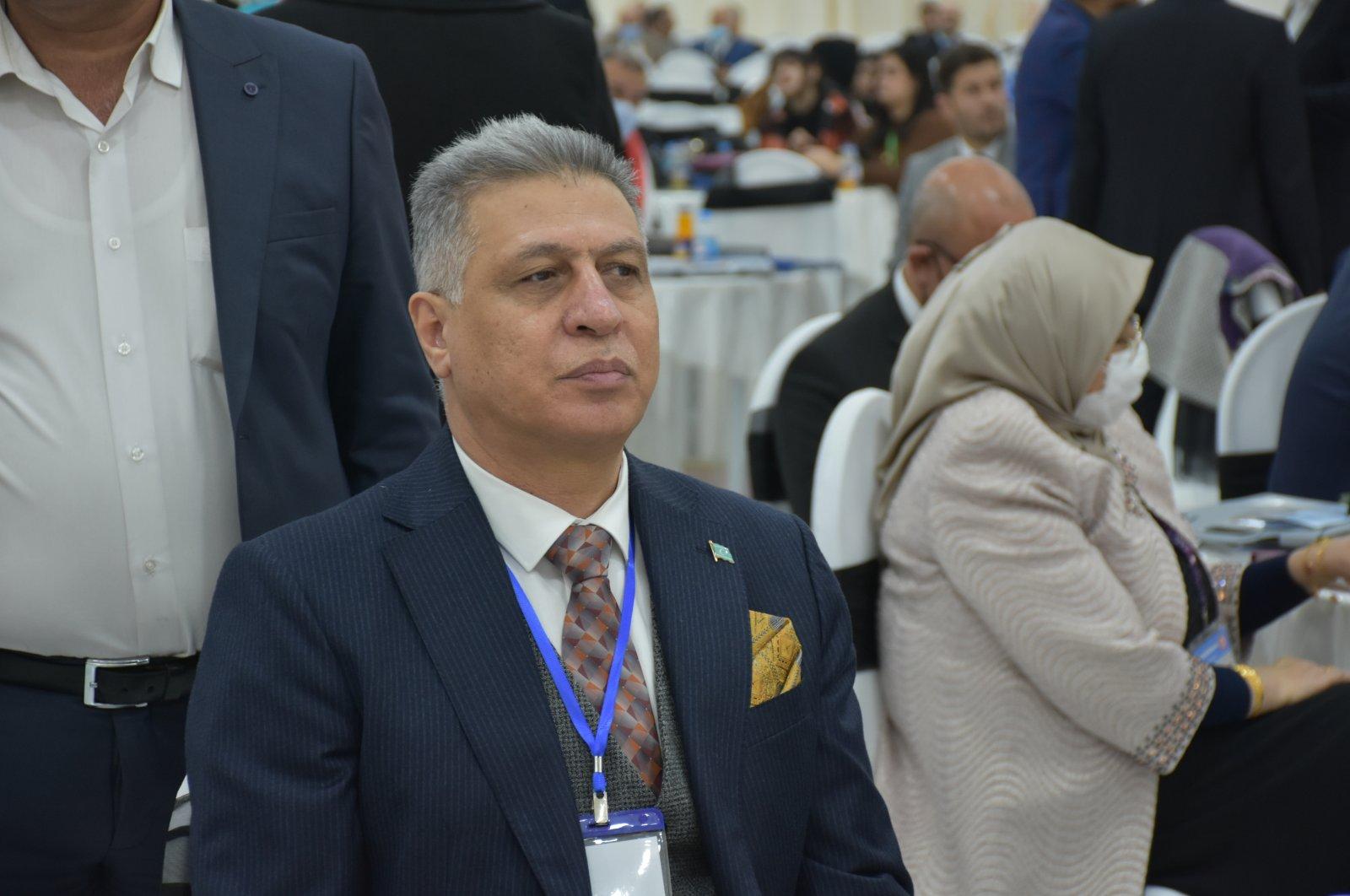 Ershad Salihi, Iraqi Turkmen Front (ITF) chairperson, attends an event in Kirkuk, Iraq, Jan. 3, 2021. (AA Photo)