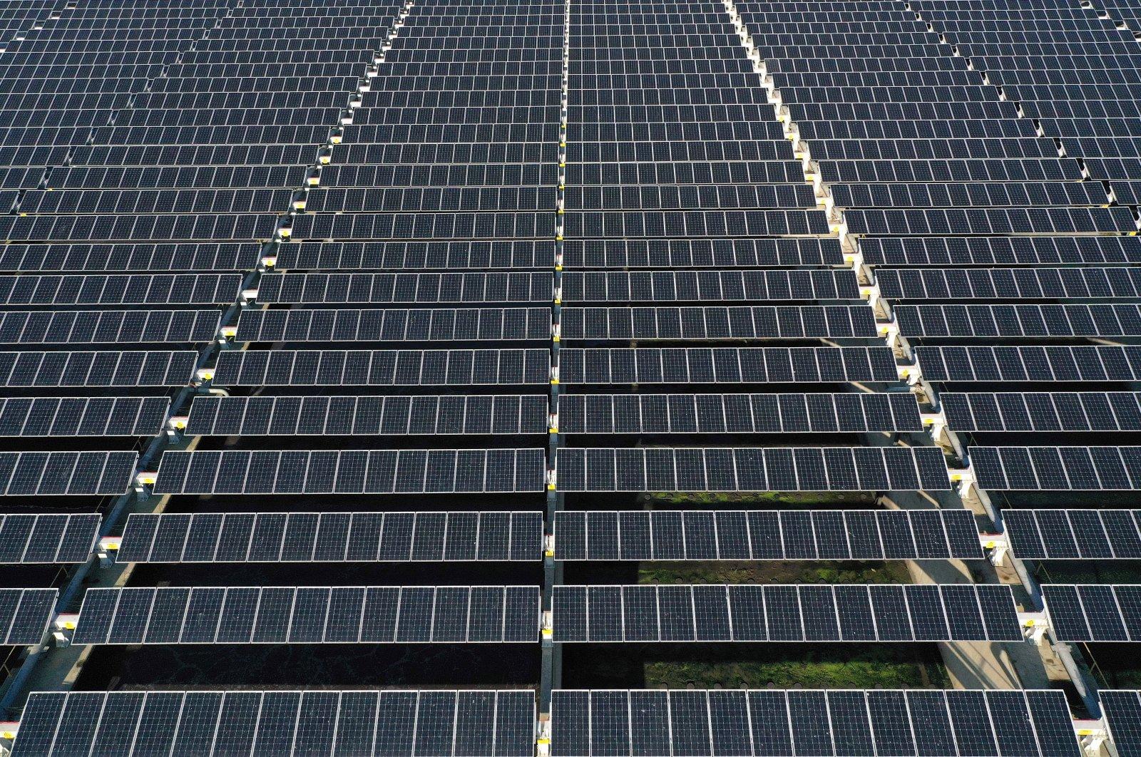 Solar panels are seen in Yalova province, northwestern Turkey, Nov. 19, 2020. (AA Photo)