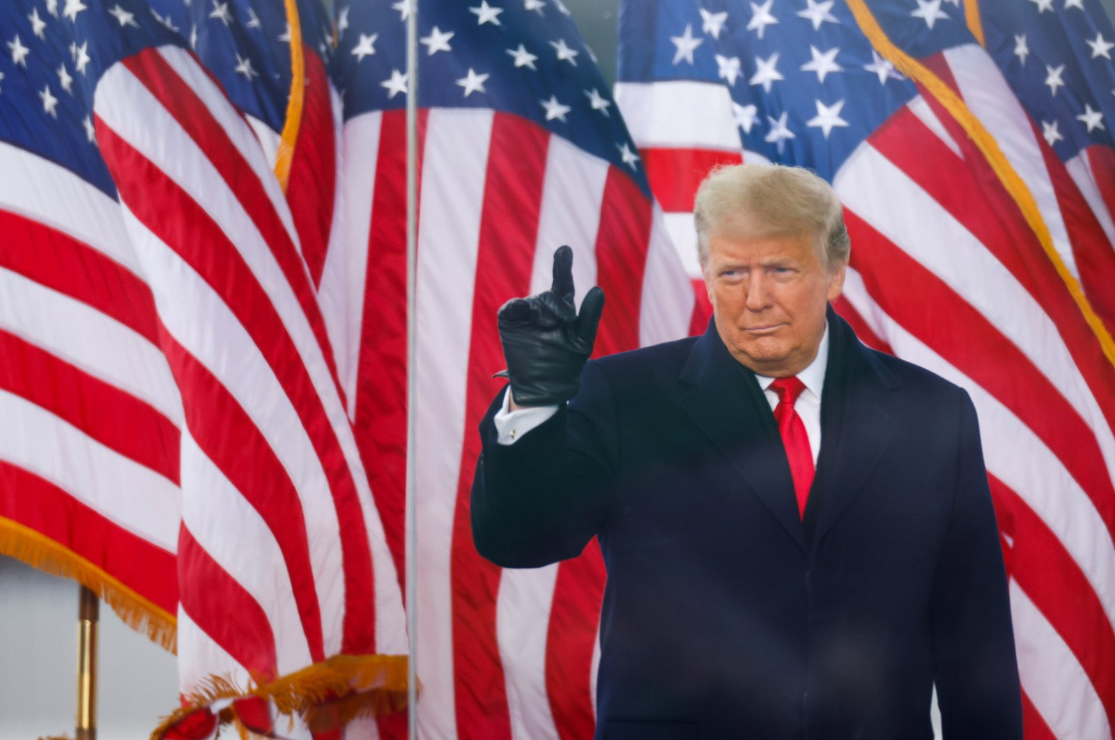 U.S. President Donald Trump gestures during a rally to contest the certification of the 2020 U.S. presidential election results by the U.S. Congress, in Washington, D.C., Jan. 6, 2021. (Reuters Photo)