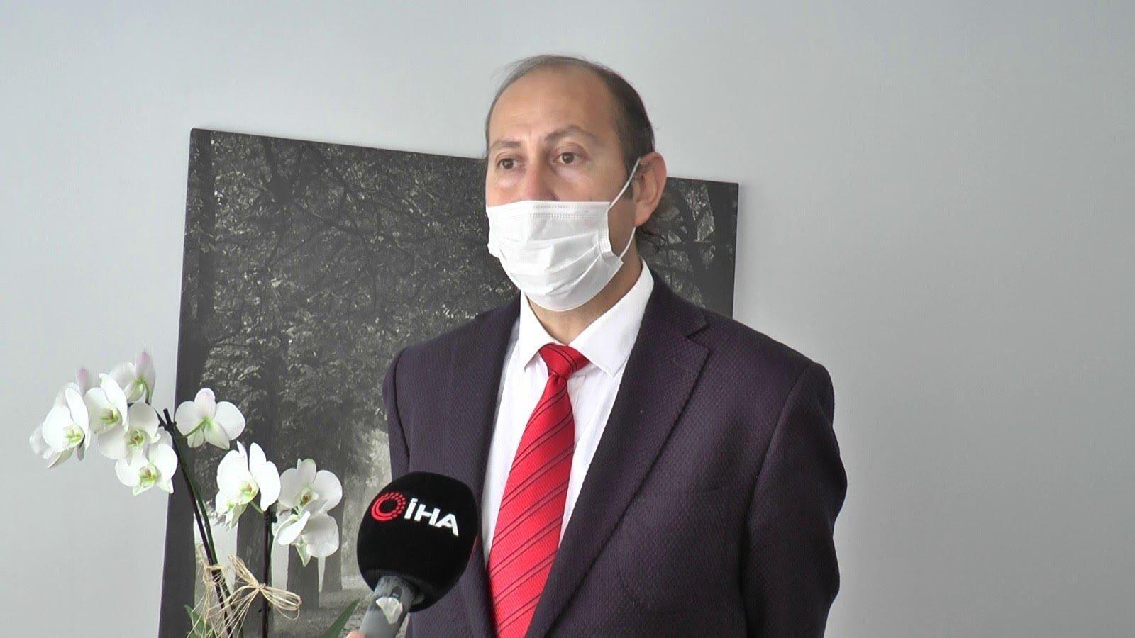 Professor Ahmet Oğuzhan Özen speaks during an interview, in Istanbul, Turkey, Jan. 7, 2021. (İHA PHOTO)