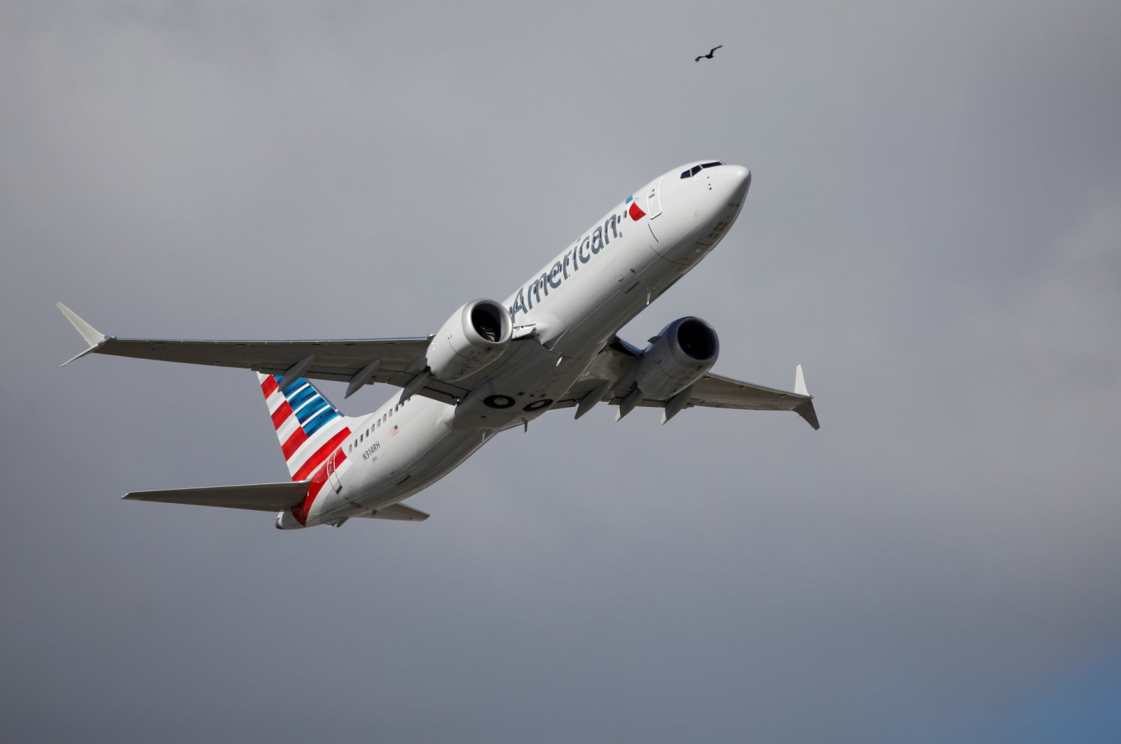 American Airlines flight 718, the first U.S. Boeing 737 MAX commercial flight since regulators lifted a 20-month grounding in November, takes off from Miami, Florida, U.S. on Dec. 29, 2020. (Reuters Photo)