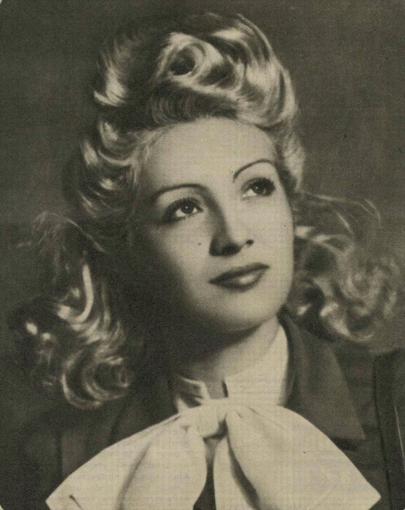 "Cahide Sonku in ""Şehvet Kurbanı"" (""Victim of Lust"") in 1940."