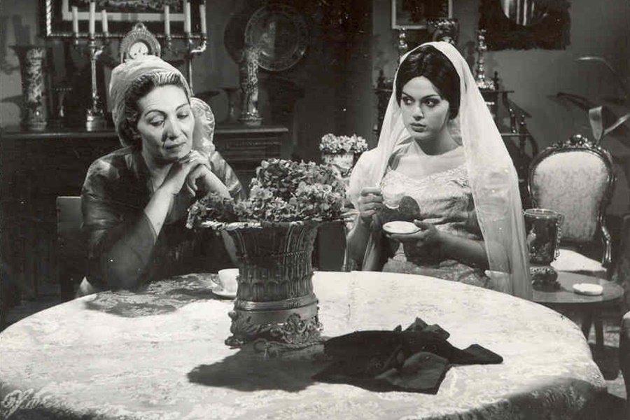 "Cahide Sonku (L) with actress Türkan Şoray in a scene from ""El Kızı"" (""The Stranger's Daughter"")."