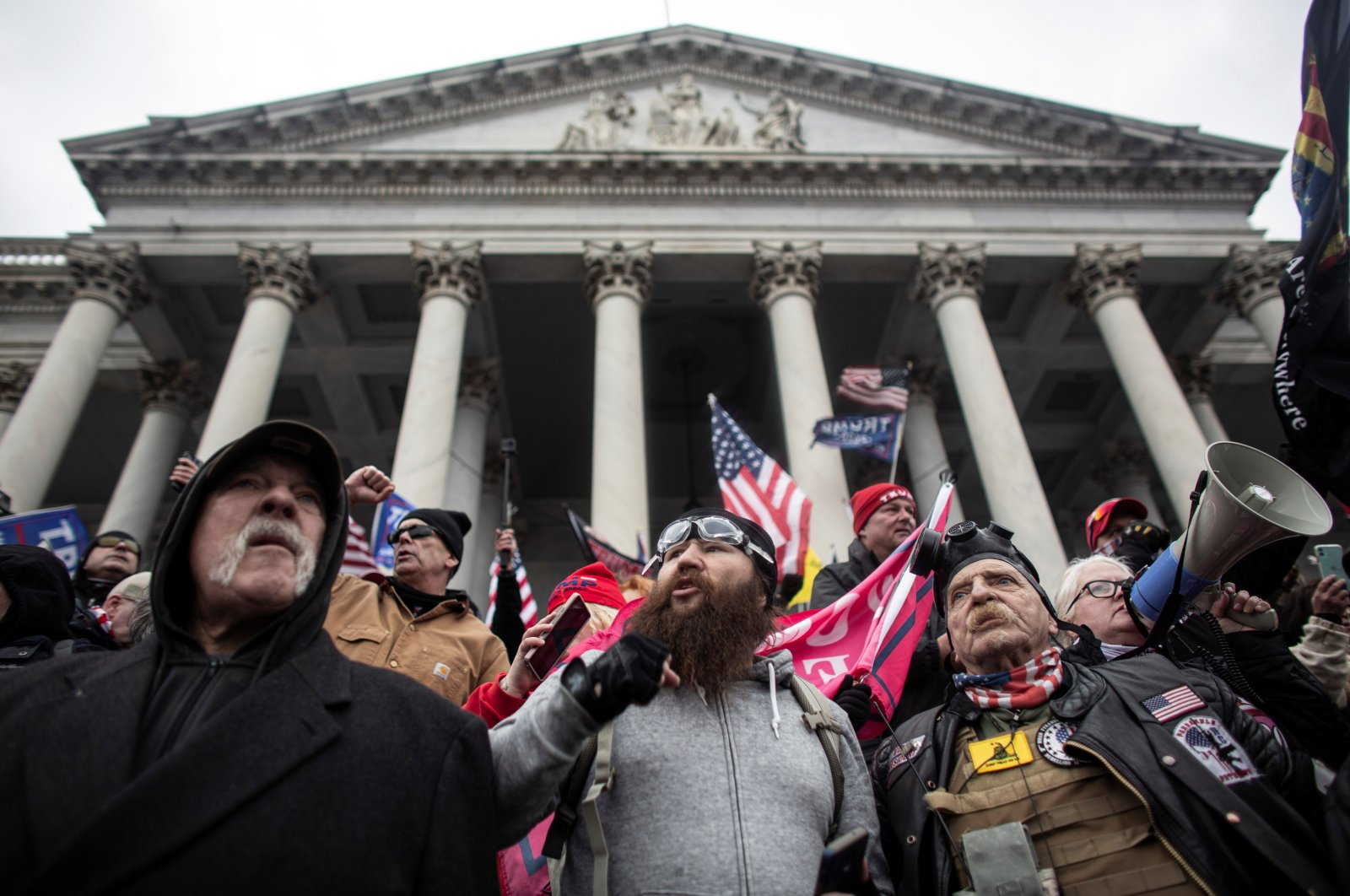 Pro-Trump demonstrators rally to contest the certification of the 2020 U.S. presidential election results by the U.S. Congress, at the Capitol Building in Washington, D.C., U.S., Jan. 6, 2021. (Reuters Photo)