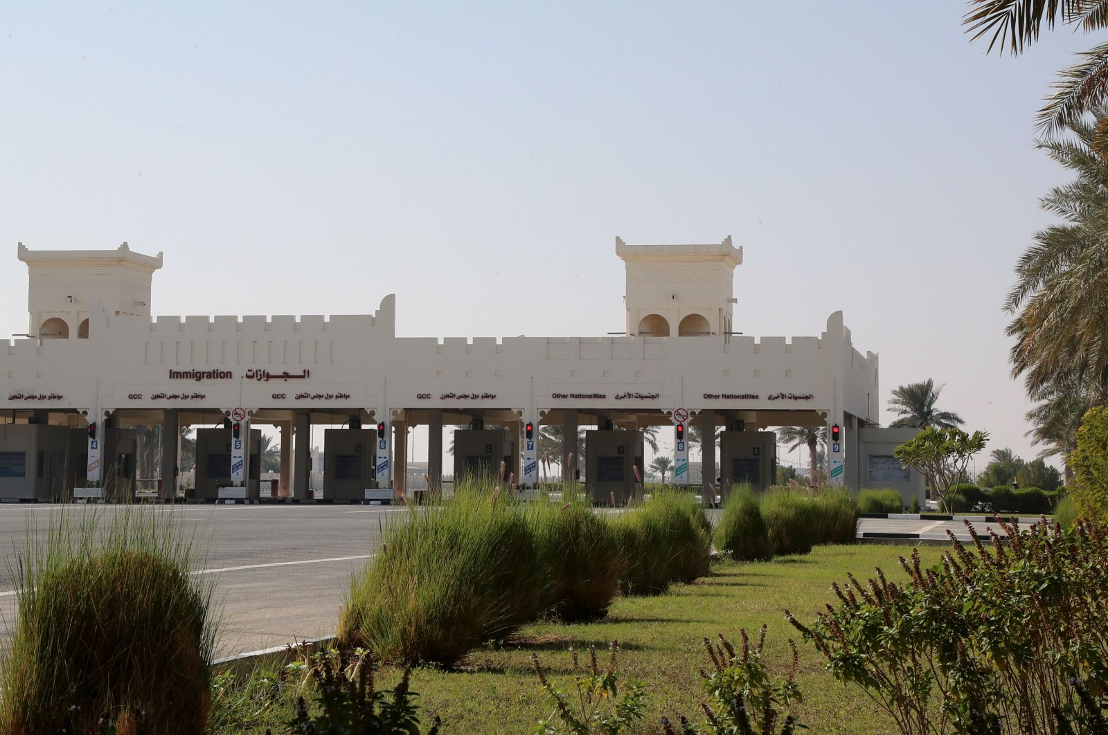 The Qatari side of the Abu Samrah border crossing with Saudi Arabia, Jan. 7, 2021. (AFP Photo)