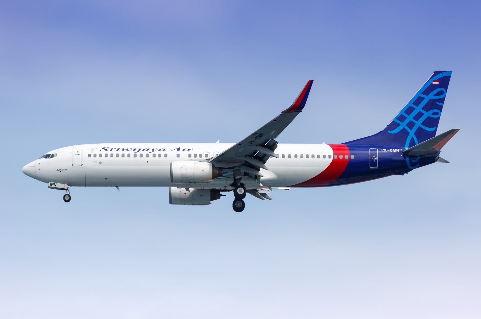 A Sriwijaya Air passenger plane seen flying in the sky in this undated photo.