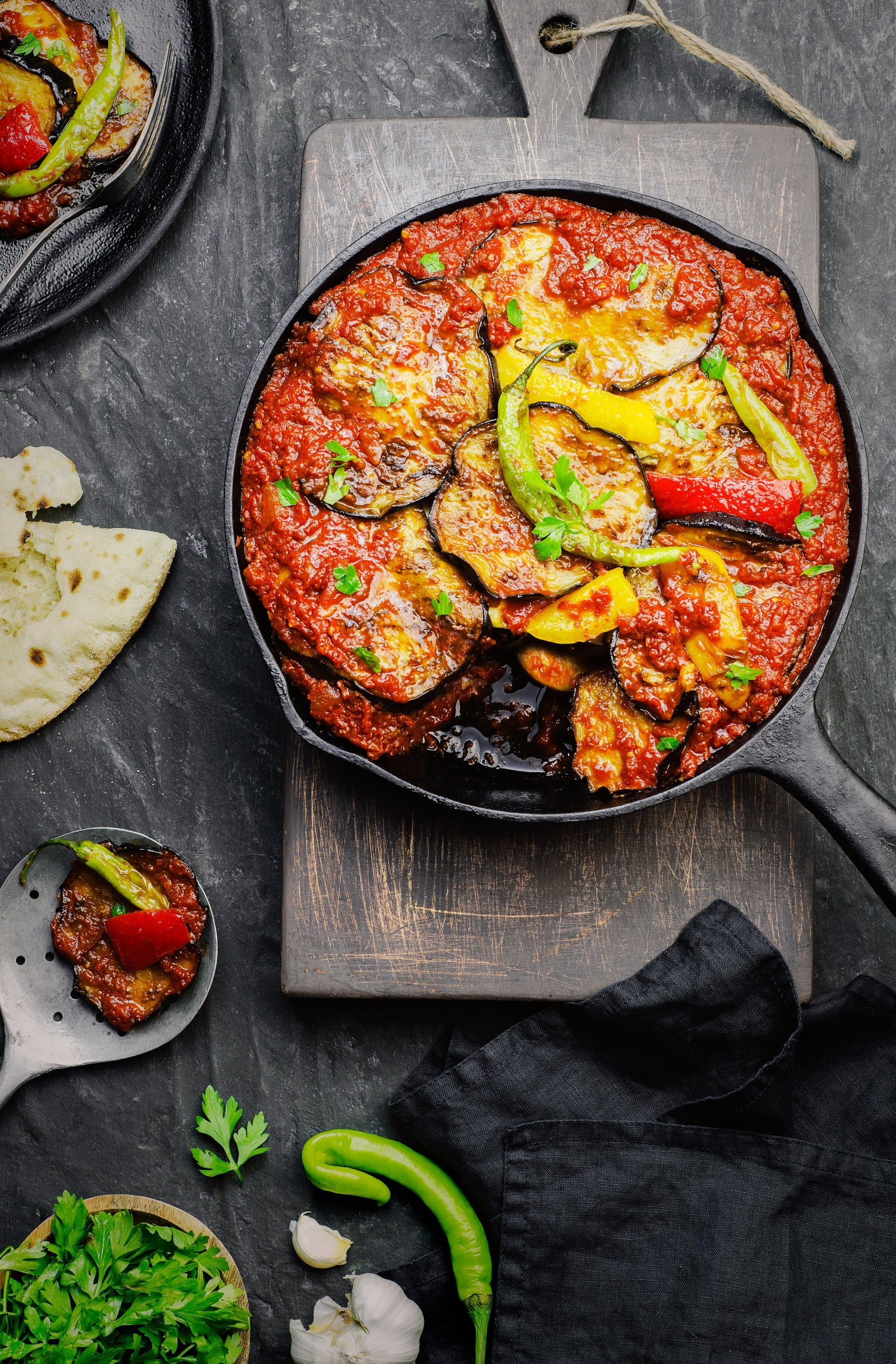 Eggplant moussaka is great on its own but you could also have it with gluten-free pita or naan. (Shutterstock Photo)