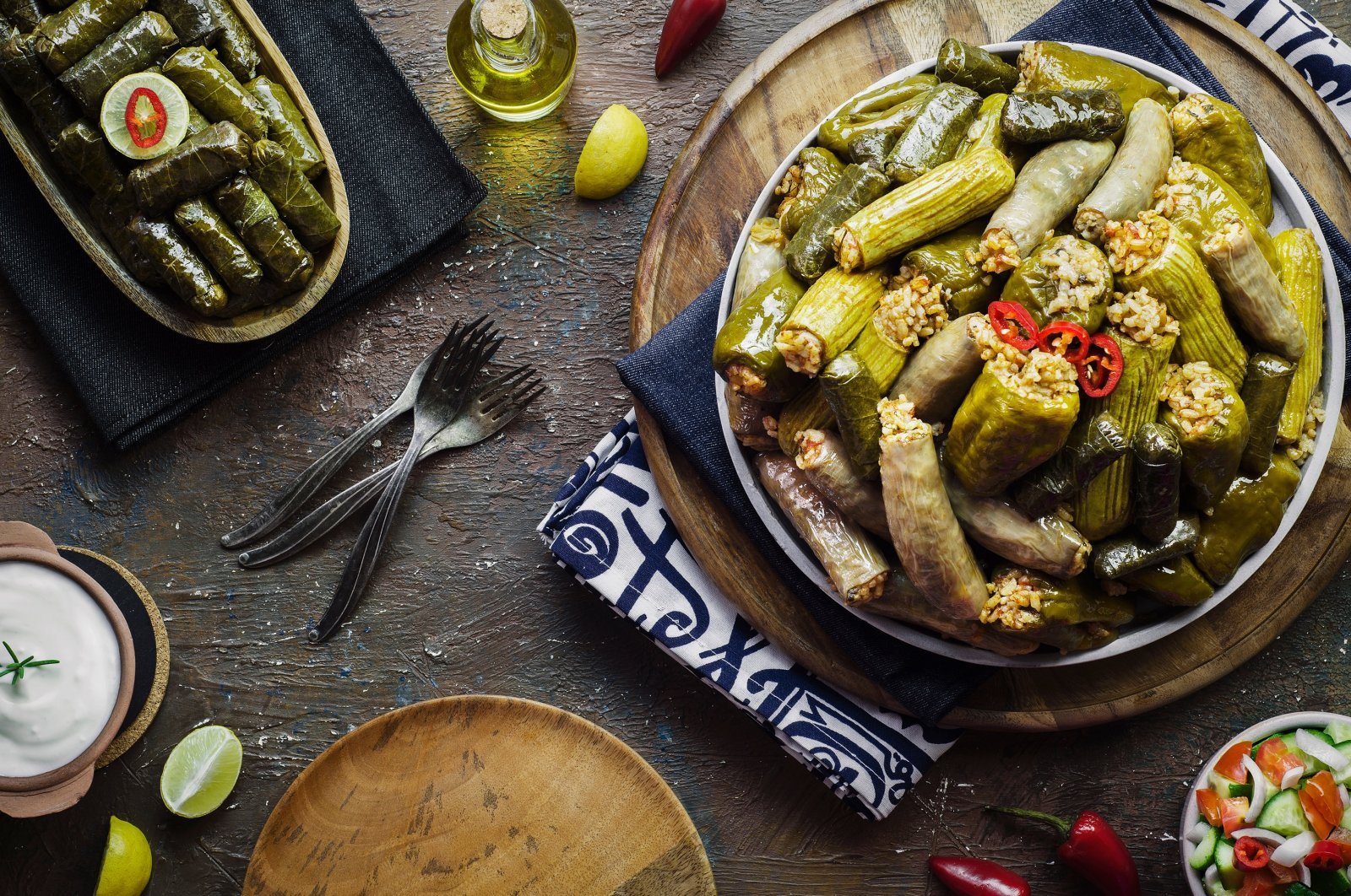 When in doubt, stuffed vine leaves or vegetables such as peppers and zucchini make for a great lunch. (Shutterstock Photo)