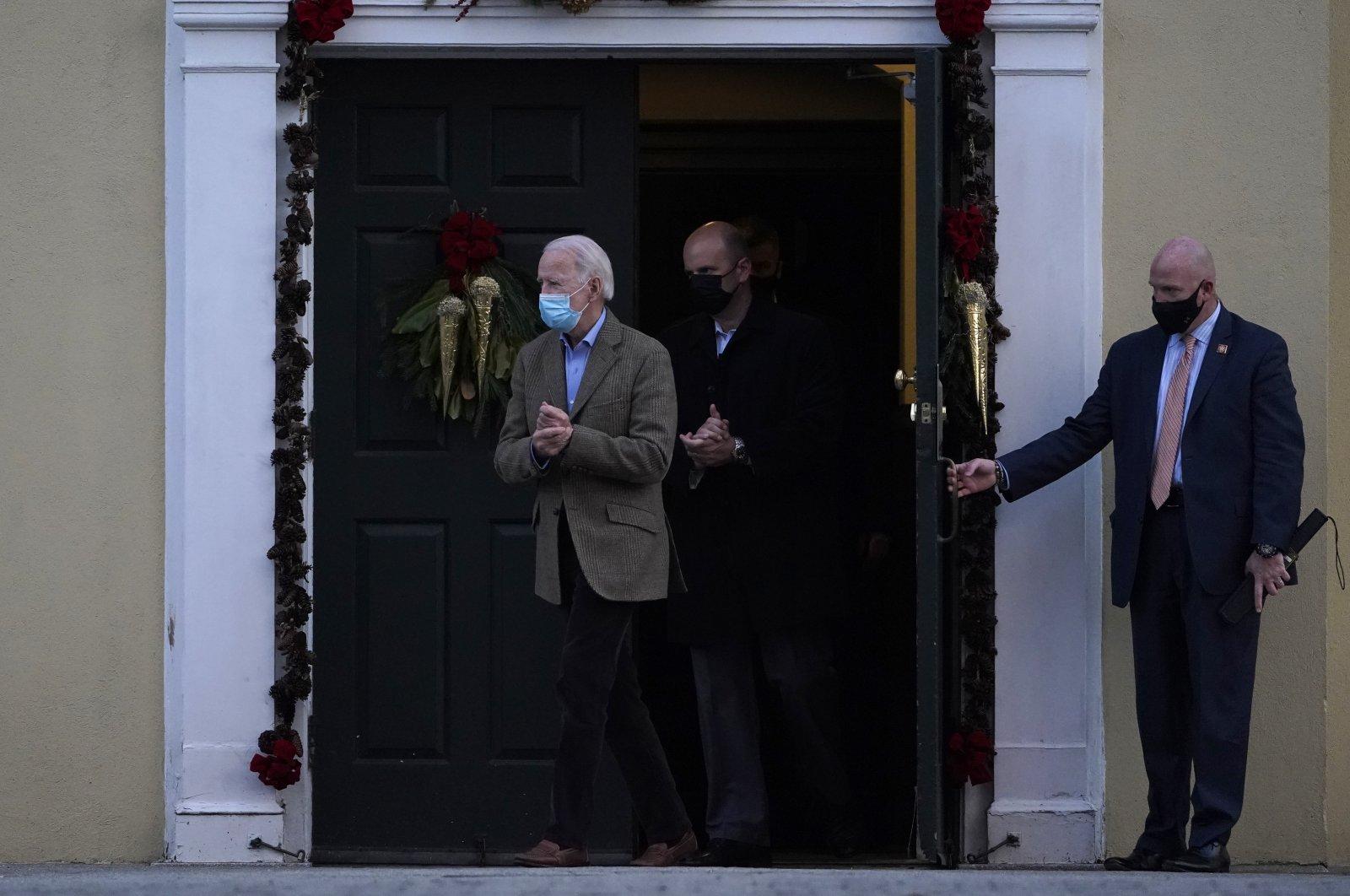President-elect Joe Biden leaves after attending mass at St. Joseph on the Brandywine Catholic Church in Wilmington, Delaware, U.S., Jan. 9, 2021. (AP Photo)