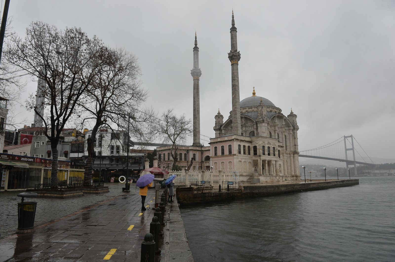 A general view of the Ortaköy district of Istanbul, Turkey, Jan. 10, 2021. (DHA Photo)