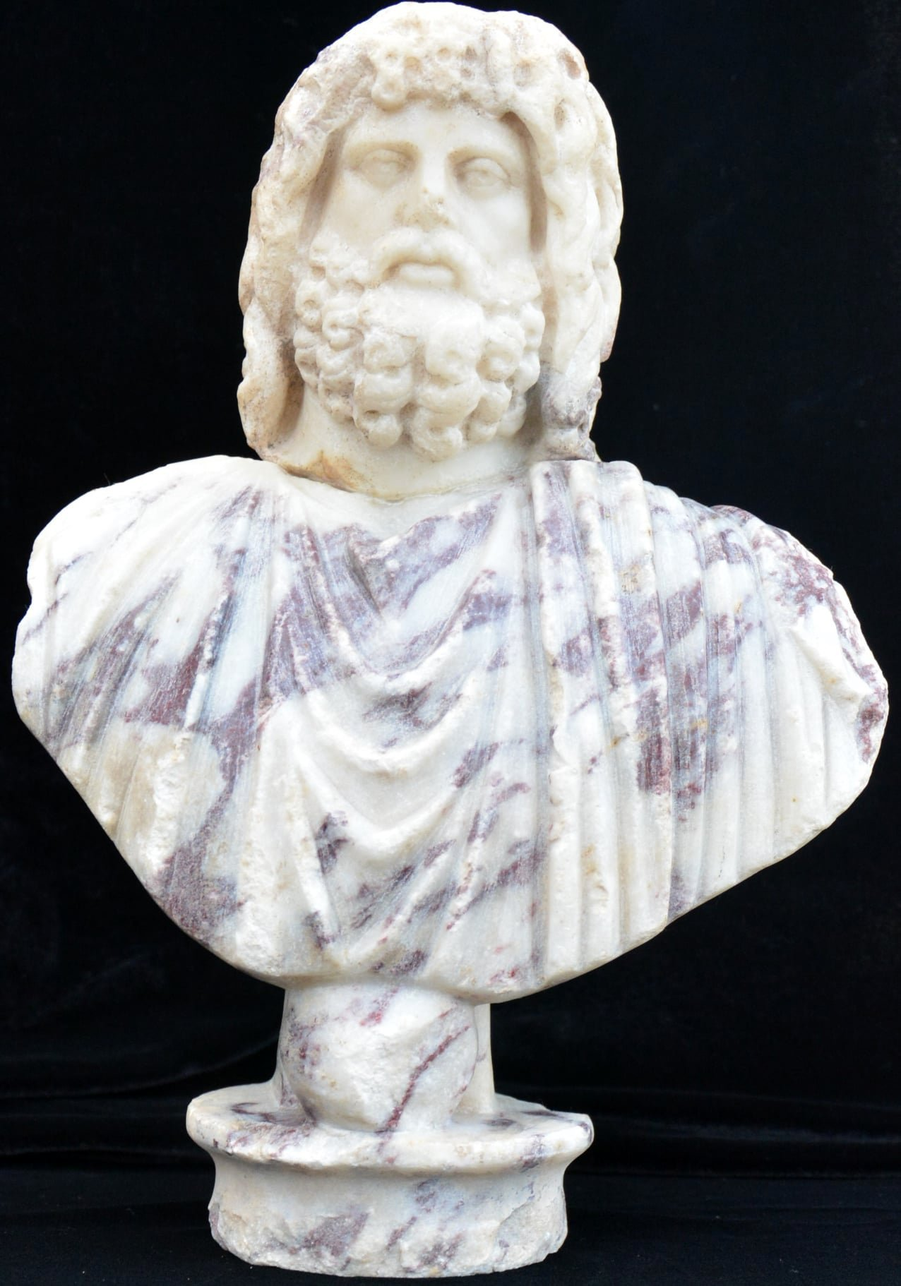 Alongside the statue, the head of the bust of Serapis, a Graeco-Egyptian deity, was also discovered andhas since been reunited with its body, Jan. 6, 2021. (DHA Photo)