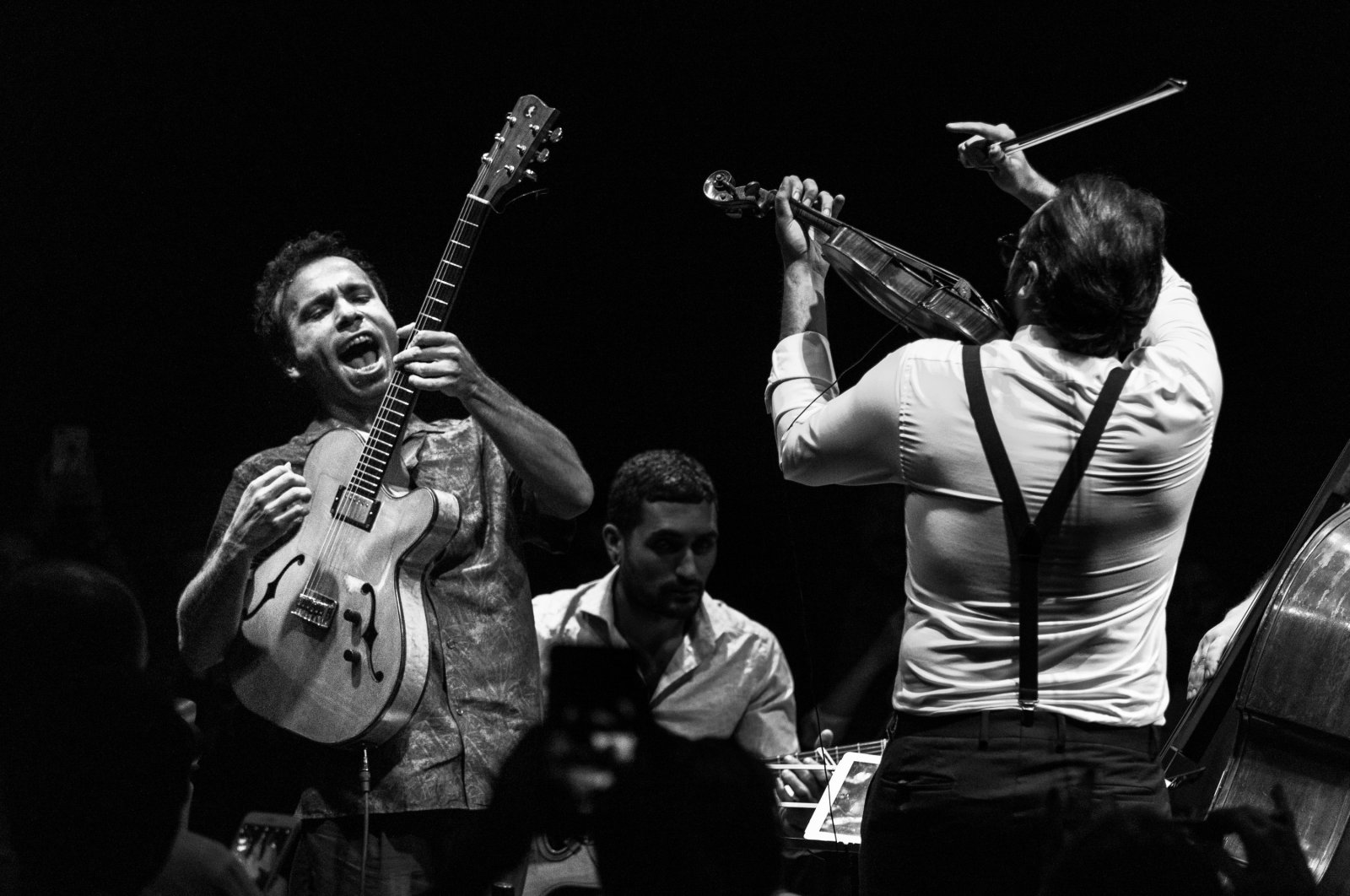 MANOUCHE A LA TURCA, led by Bilal Karaman, on stage as part of the Istanbul Jazz Festival on Sept. 11, 2020. (Courtesy of Istanbul Foundation for Culture and Arts)