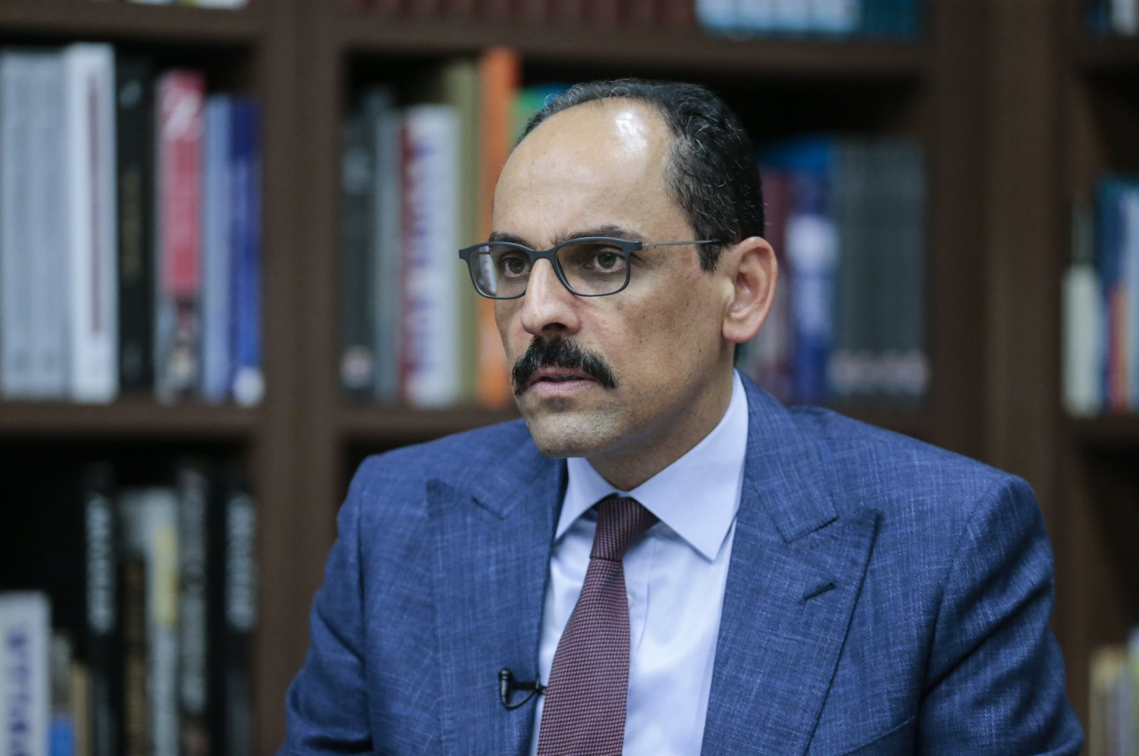 Presidential Spokesperson İbrahim Kalın speaking to Anadolu Agency in Ankara, July 9, 2020 (AA Photo)