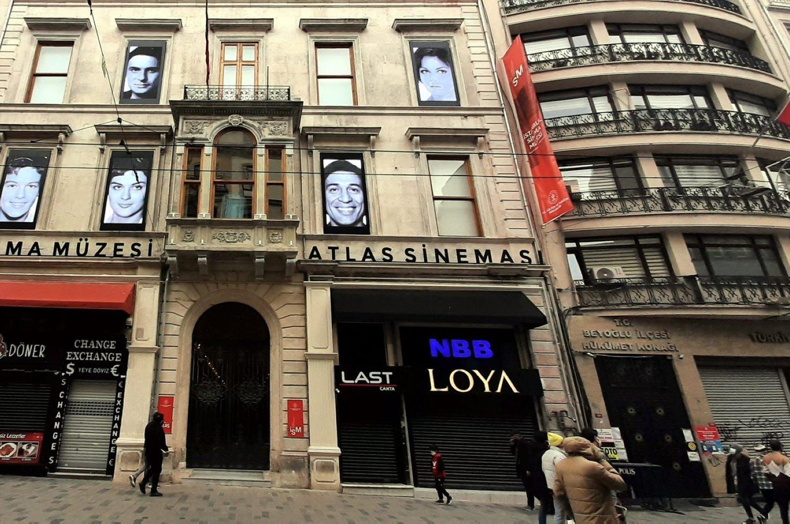 The historical Atlas Theatre on Istiklal Street, Istanbul, Turkey, Jan. 2, 2021. (Photo by Mustafa Kaya)