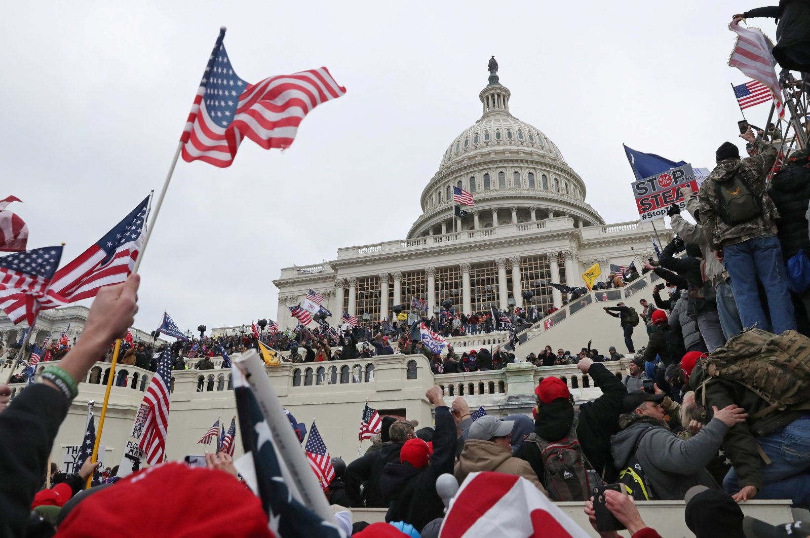 A mob of supporters of U.S. President Donald Trump storm the U.S. Capitol Building in Washington, D.C., U.S., Jan. 6, 2021. (Reuters Photo)