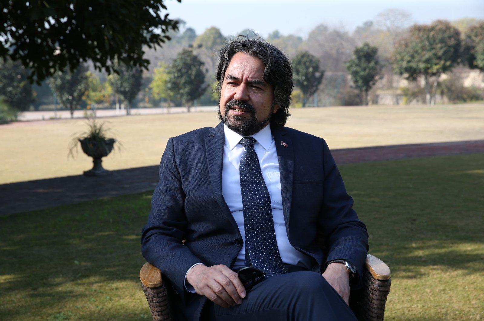 Ambassador Ihsan Mustafa Yurdakul speaks to Anadolu Agency in Islamabad, Pakistan, Jan. 12, 2020 (AA Photo)