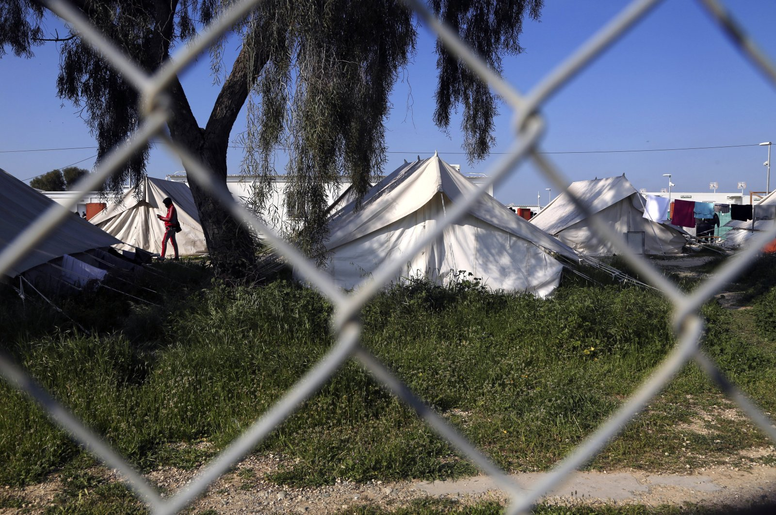 Tents inside a refugee camp in Kokkinotrimithia outside of Nicosia, Greek Cyprus, March 3, 2020. (AP File Photo)