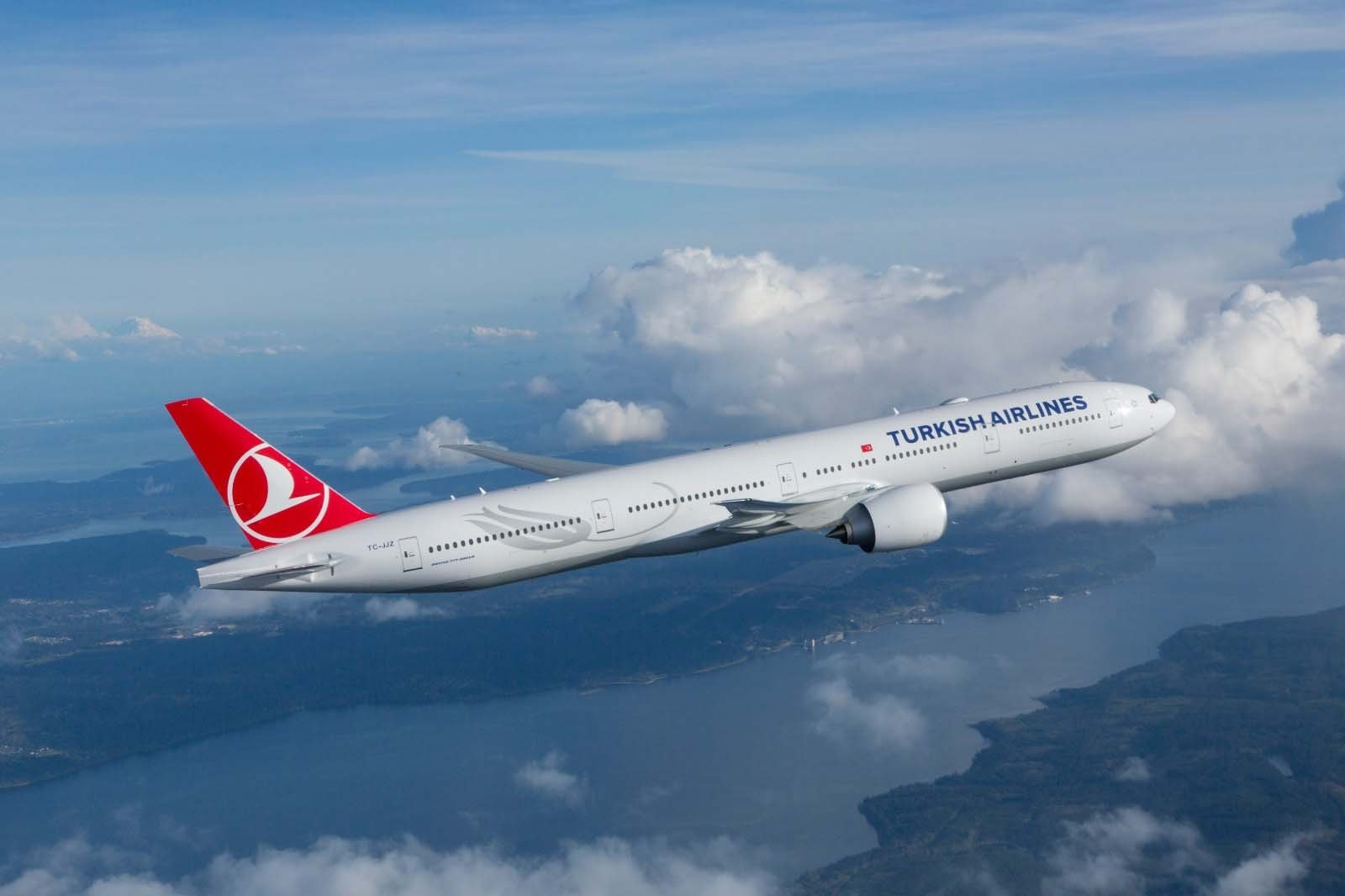 A THY plane in a photo provided on Jan. 12, 2021. (Courtesy of THY via DHA)