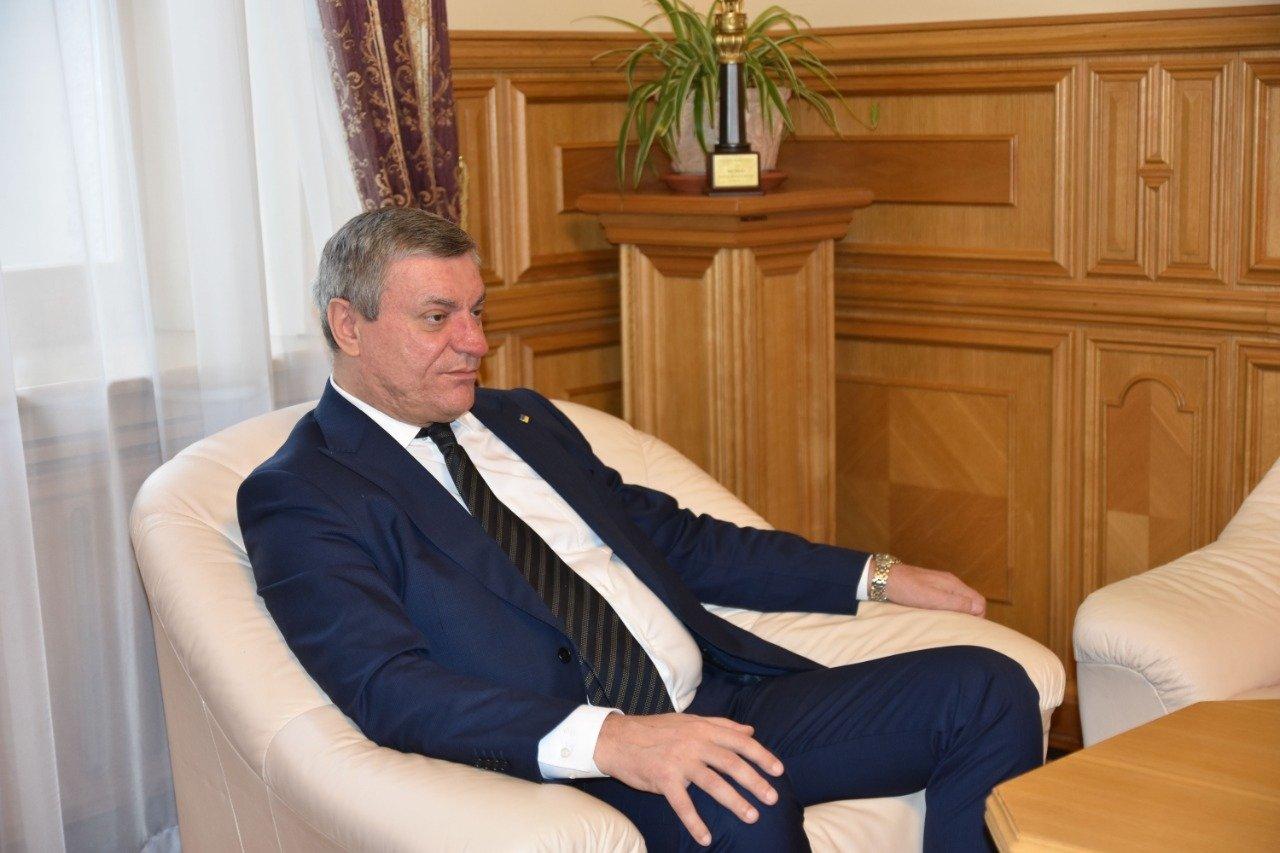 Oleh Urusky, Ukraine's strategic industries minister, in a photo provided on Jan. 13, 2021. (Oleh Urusky Press Office via AA)