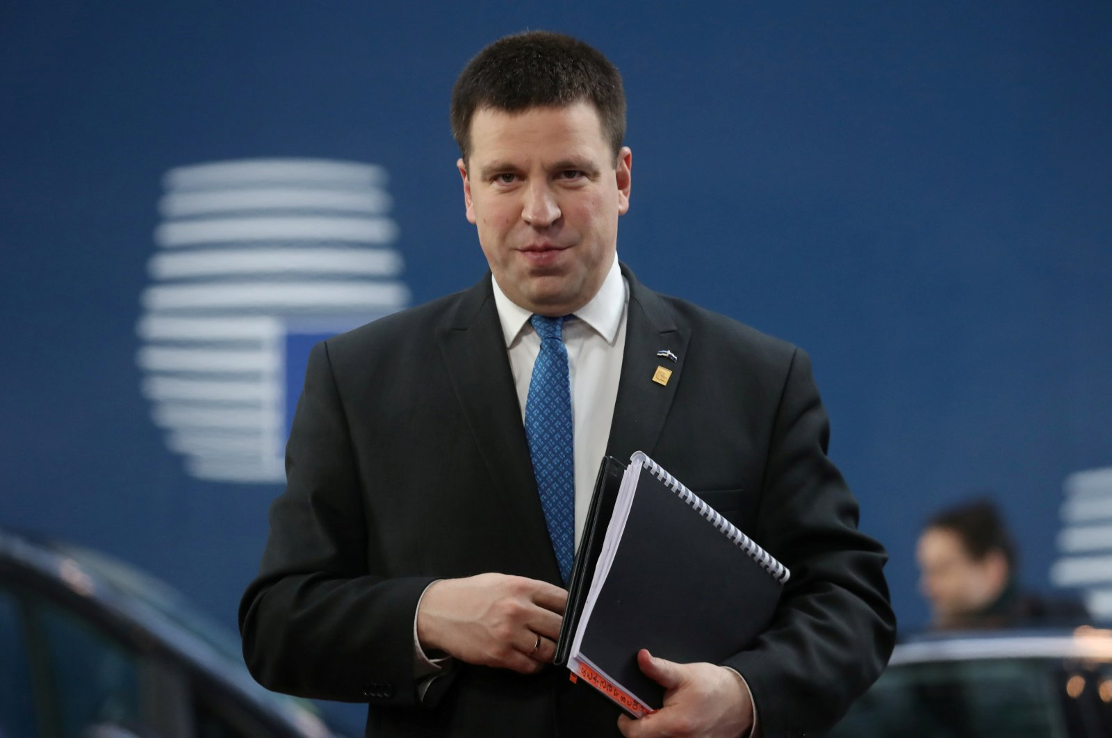 Estonia's Prime Minister Juri Ratas arrives for the second day of the European Union leaders summit, held to discuss the EU's long-term budget for 2021-2027, in Brussels, Belgium, Feb. 21, 2020. (Reuters File Photo)