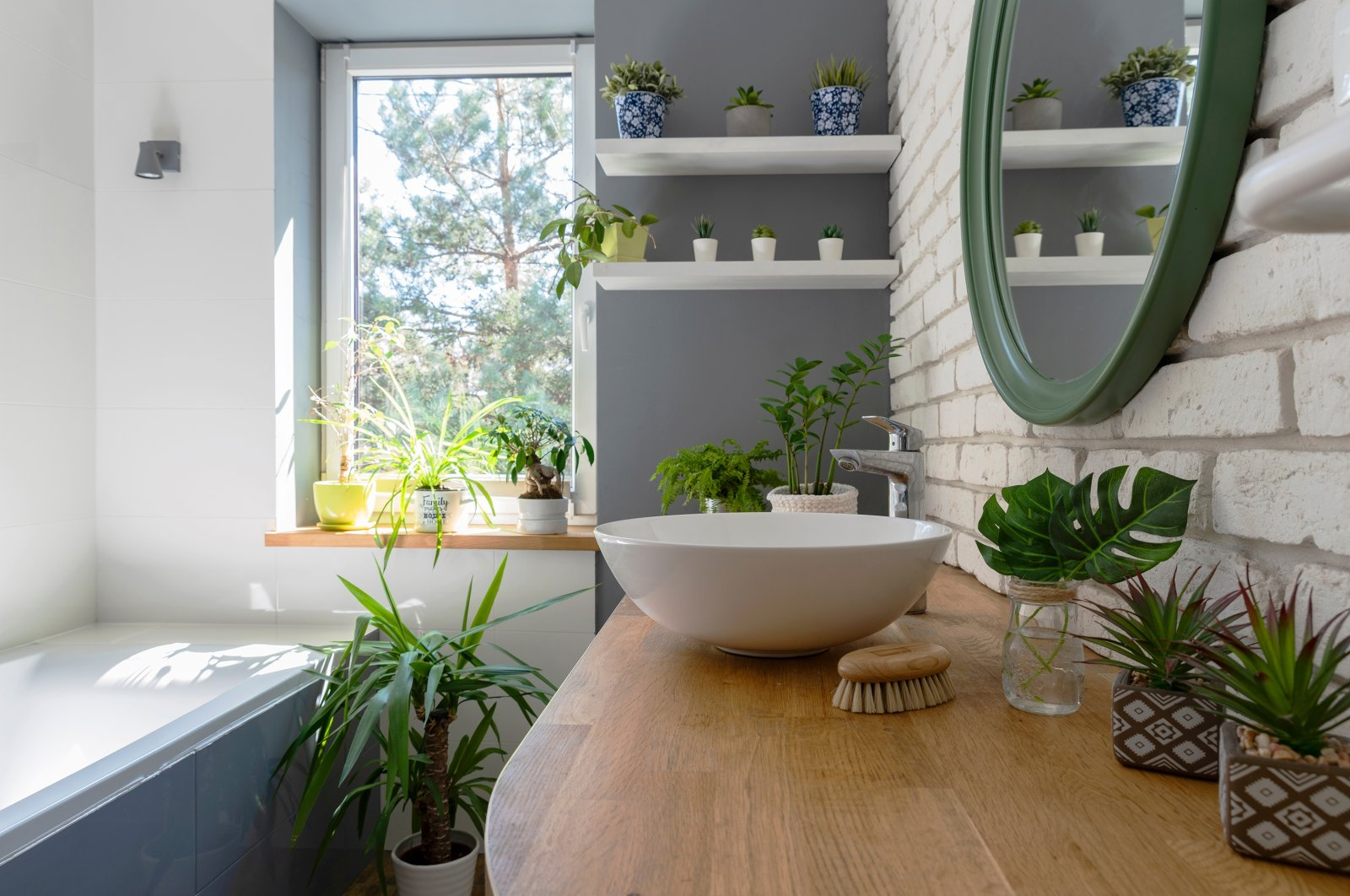 By choosing the correct plants, you can turn your bathroom into your own luscious jungle. (Shutterstock Photo)