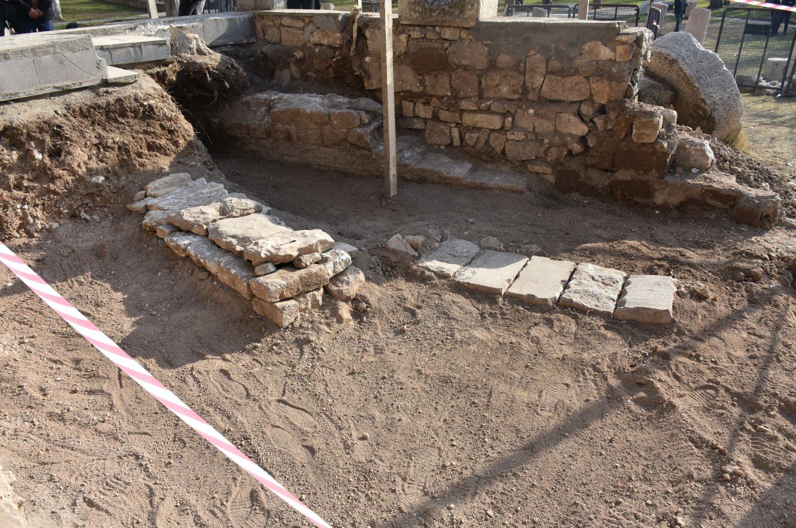 The archaeological site of the graves of Seljuk Sultan of Rum Kılıç Arslan I and his daughter Saide Hatun in Diyarbakır, southeastern Turkey, Jan. 12, 2020. (AA Photo)