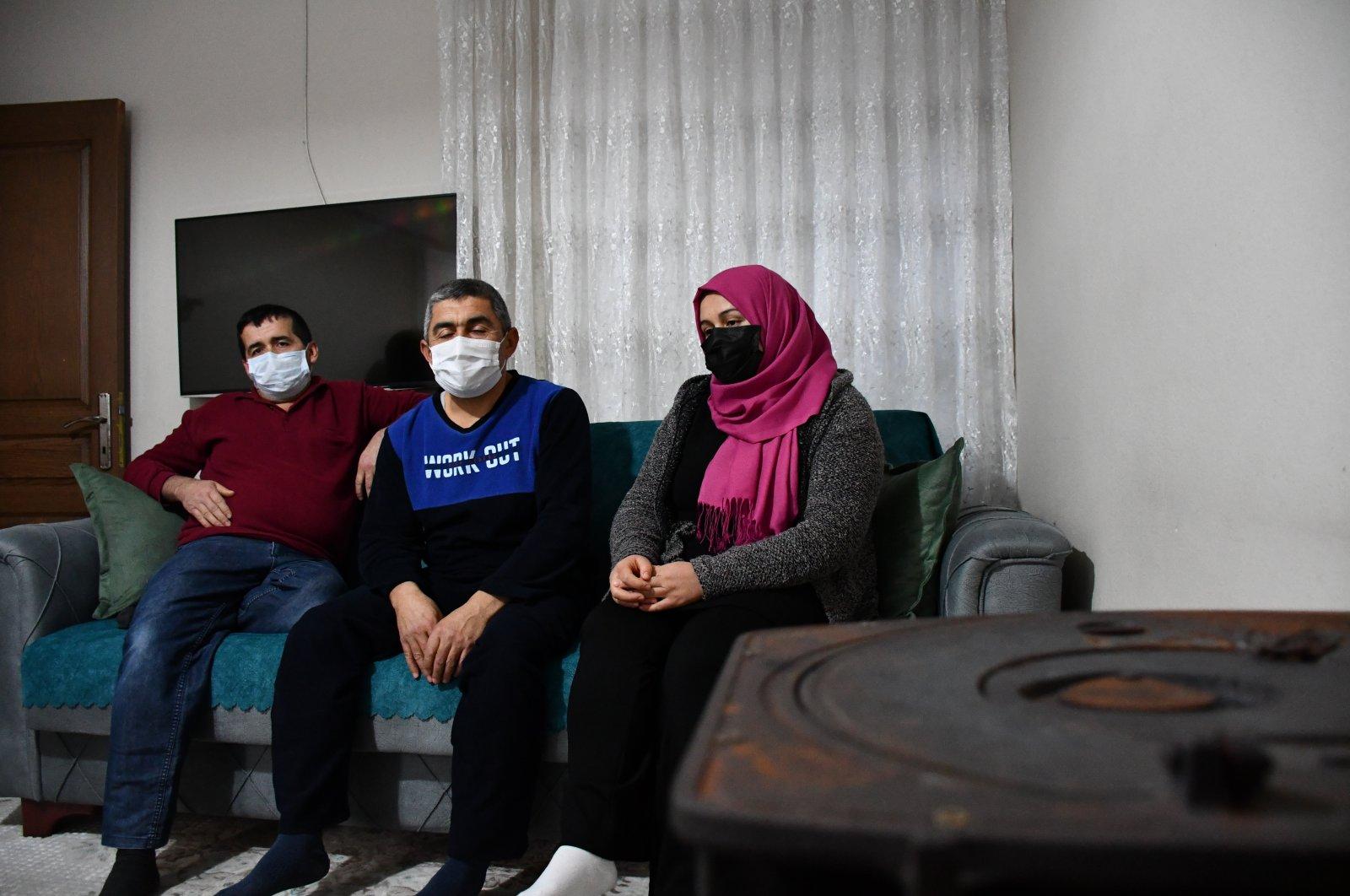 The Çalık family in Turkey's southern province Adana awaits the return of kidnapped Turkish worker Nurettin Çalık from Libya, Jan. 13, 2021. (AA Photo)