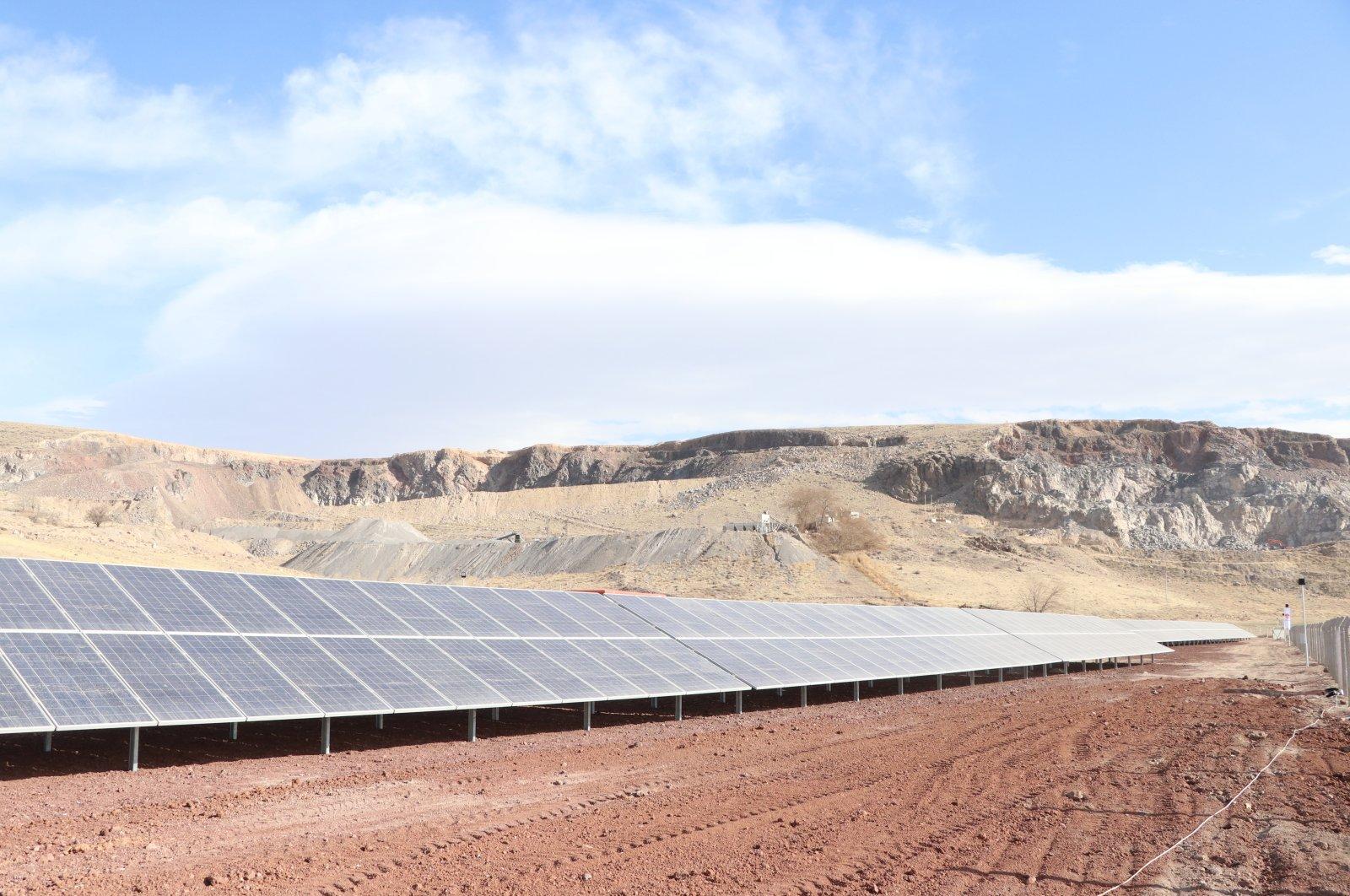 A solar energy facility in Niğde province, central Turkey, Jan. 11, 2021. (AA Photo)
