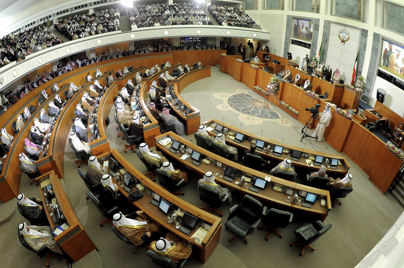 A general view of the National Assembly during the inauguration of the 14th Legislative Term of the National Assembly in Kuwait City, Kuwait, Dec. 16, 2012. (AP Photo)