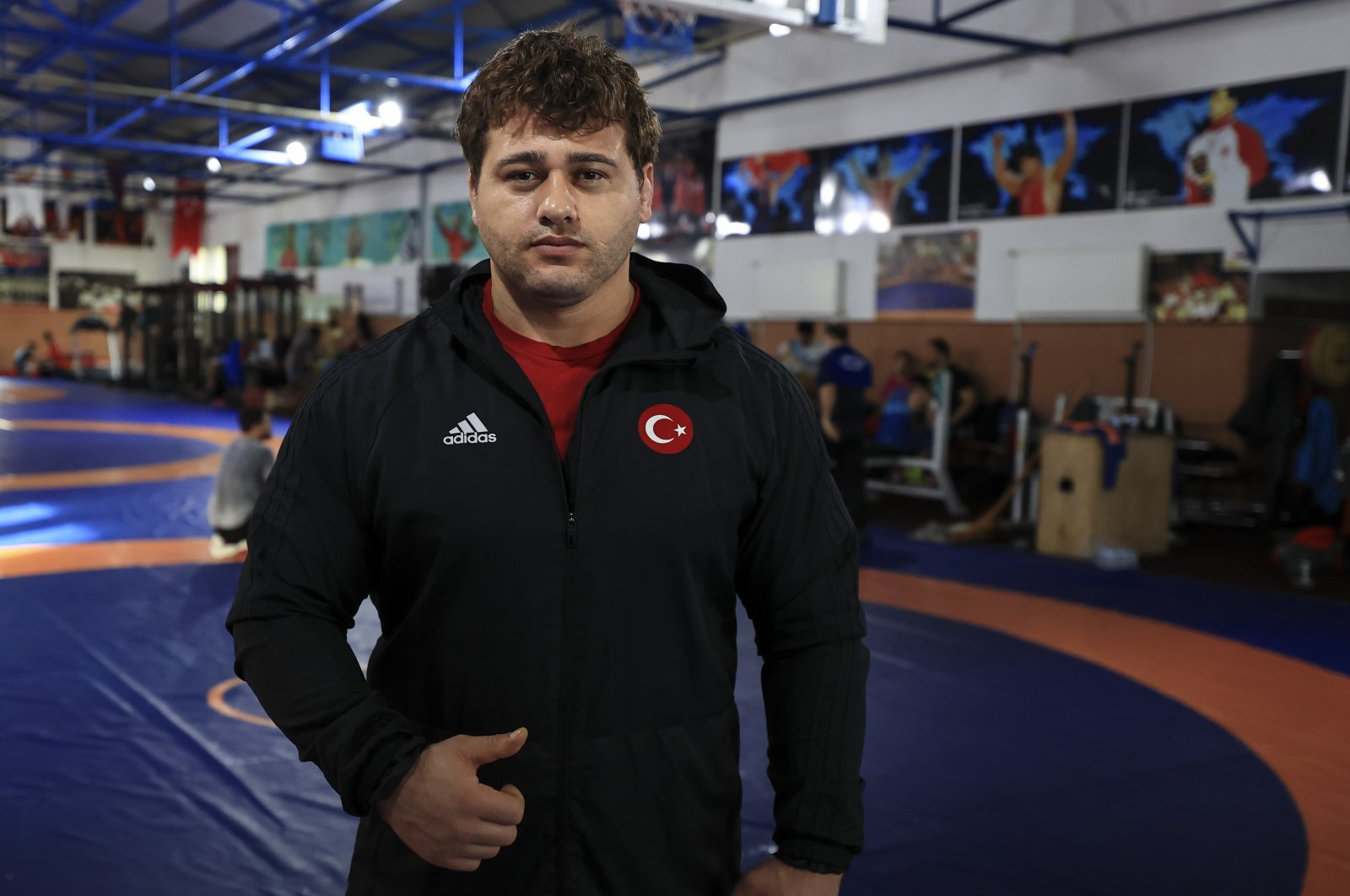 Rıza Kayaalp poses on the sidelines of his training, in Istanbul, Turkey, Jan. 13, 2021. (AA PHOTO)