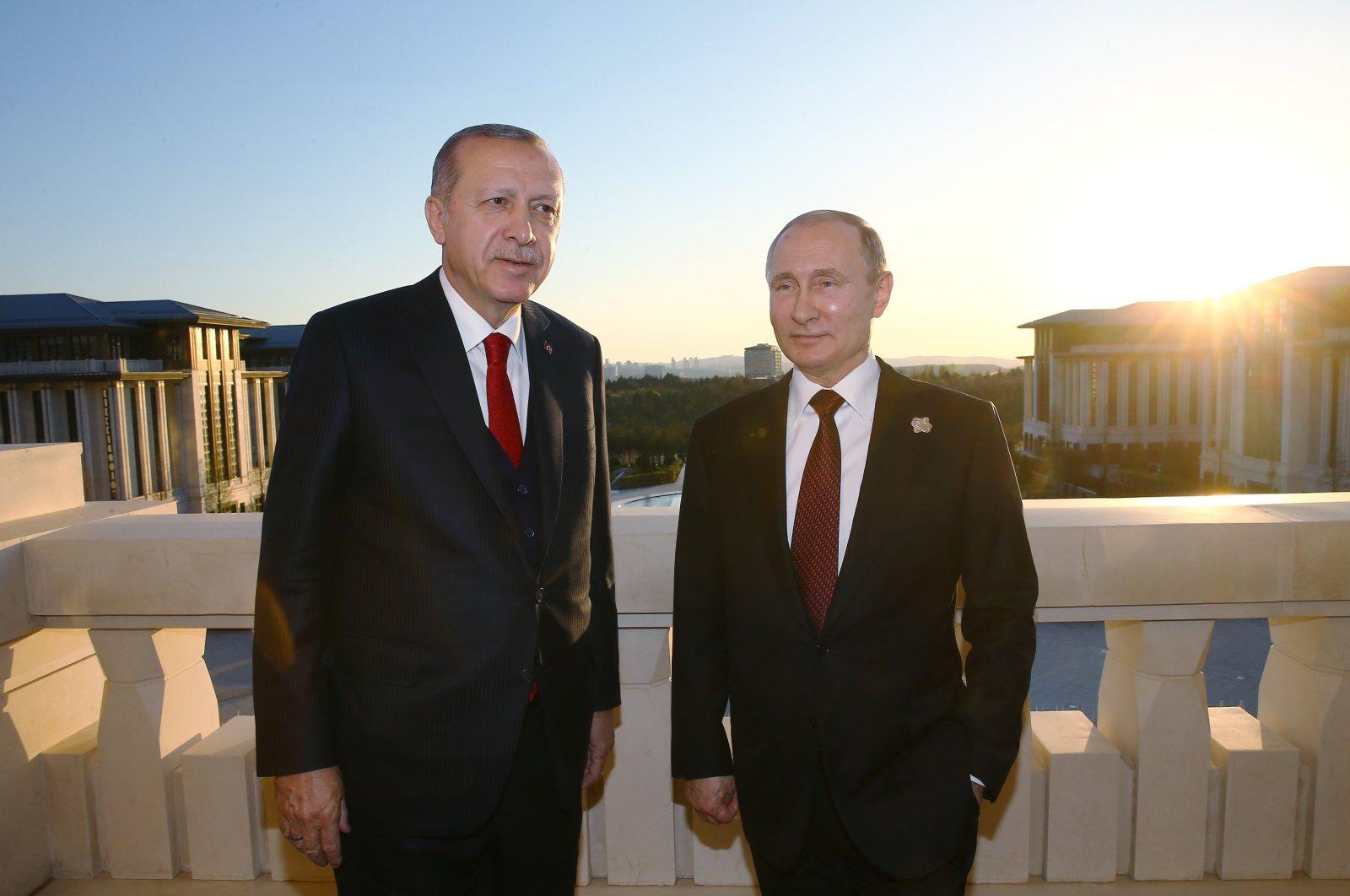 President Recep Tayyip Erdoğan and his Russian counterpart Vladimir Putin in Ankara, Turkey, April 3, 2018.