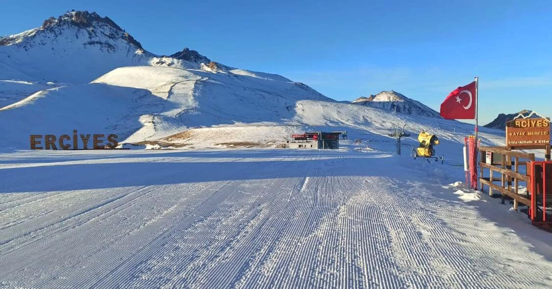 Erciyes Ski Resort has been selected to be included in the European Destinations of Excellence Network (EDEN), Kayseri, Turkey, Jan. 13, 2021. (AA Photo)