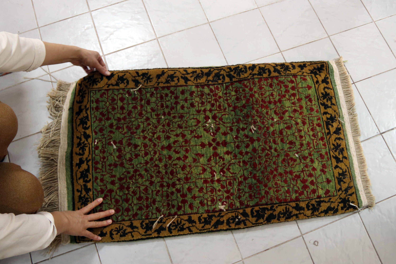 A carpet woven by local women at the workshop in Iğdır, eastern Turkey, Jan. 13, 2021. (AA Photo)