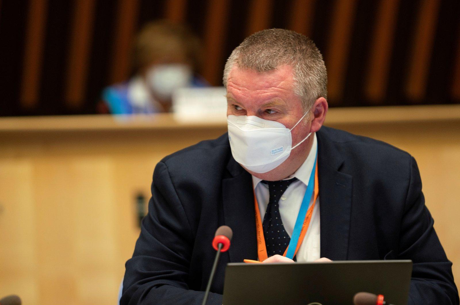 WHO Health Emergencies Programme Director Michael Ryan during a session on the COVID-19 response in Geneva, Switzerland, Oct. 5, 2020.  (WHO/Handout via Reuters)