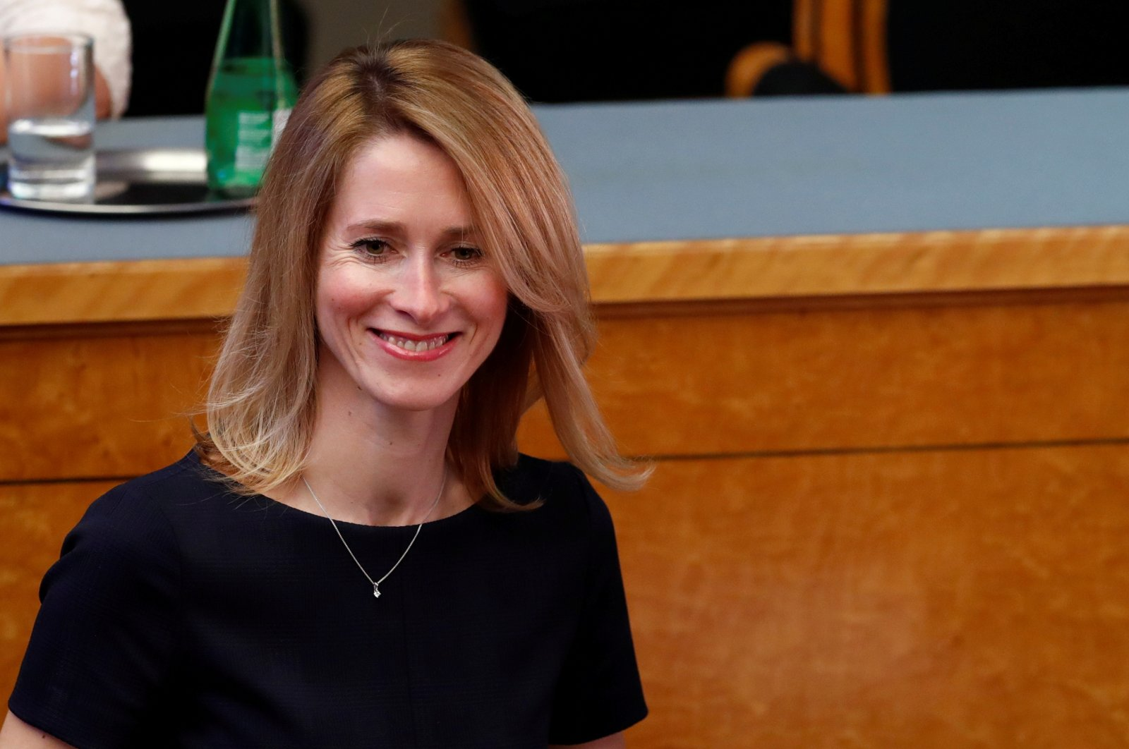 Estonia's pro-business opposition leader Kaja Kallas attends the opening session of the newly elected Estonian Parliament in Tallinn, Estonia, April 4, 2019. (Reuters Photo)