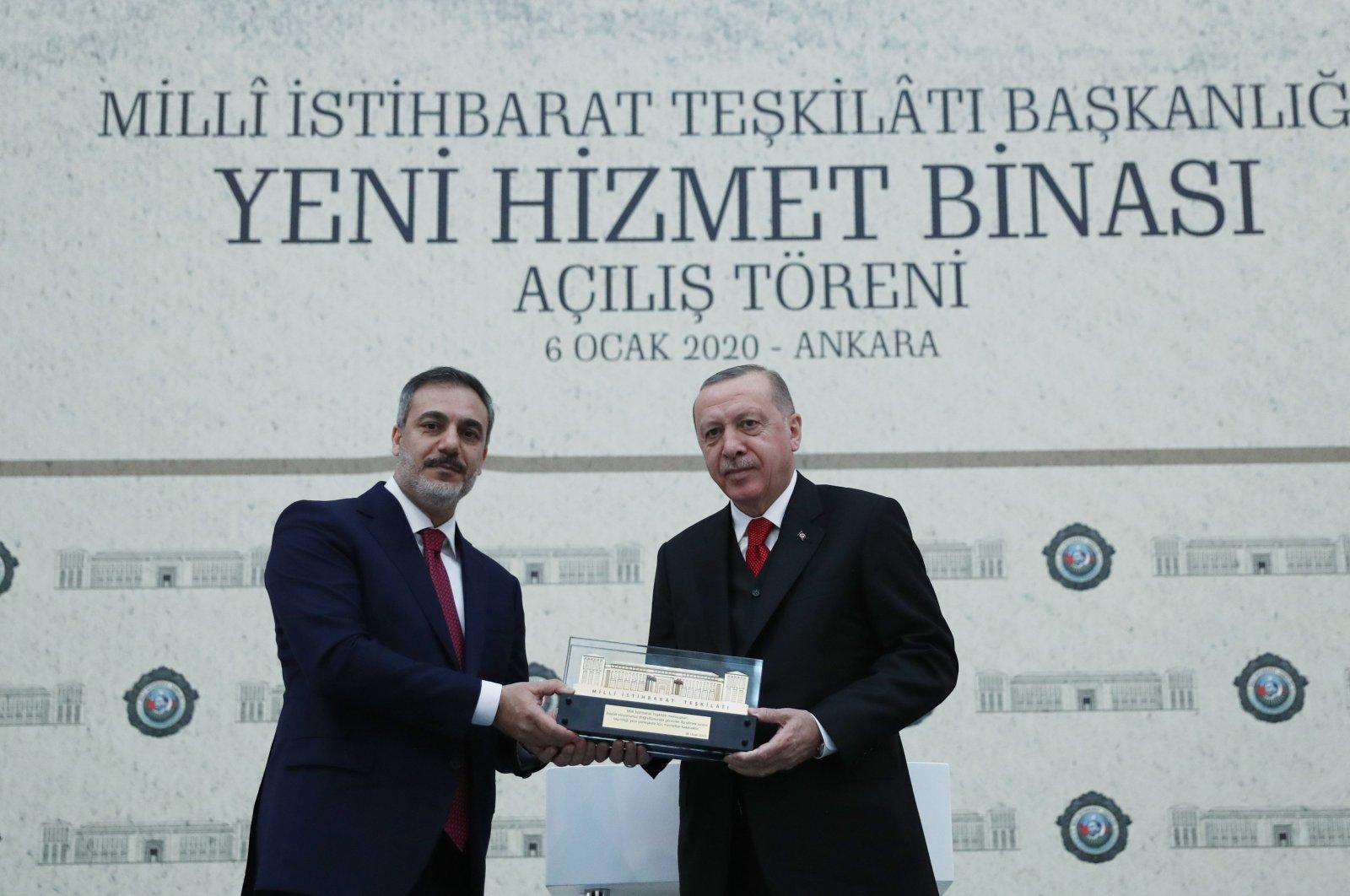 MIT President Hakan Fidan attends an event with President Recep Tayyip Erdoğan, in the capital Ankara, Turkey, Jan. 6, 2020. (AA Photo)