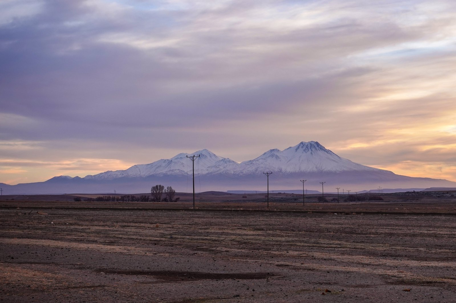 The dormant Mount Hasan is seen at sunset from Aksaray, central Turkey. (Photo by Argun Konuk)