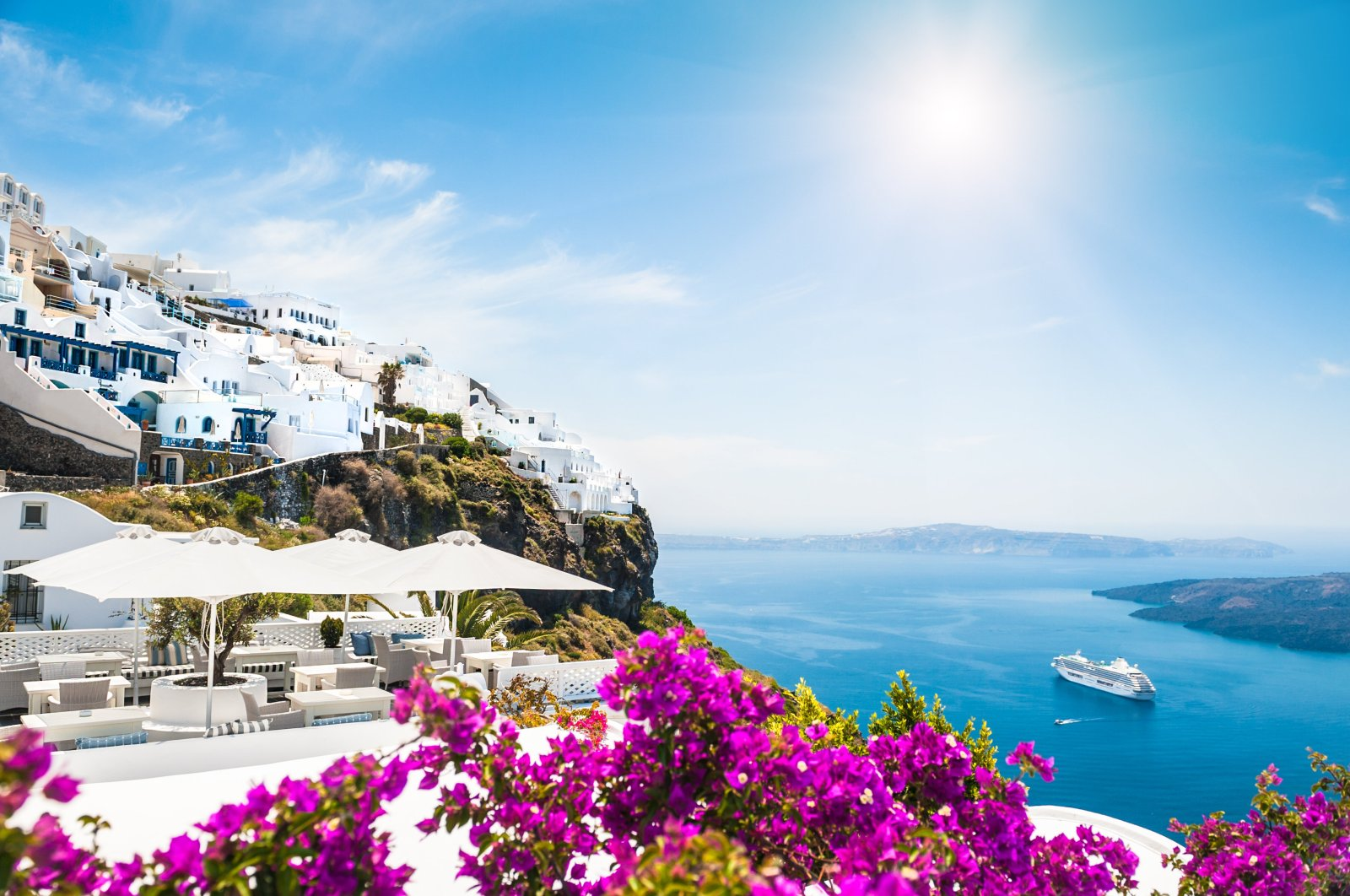 A general view of the Greek island of Santorini. (iStock Photo)