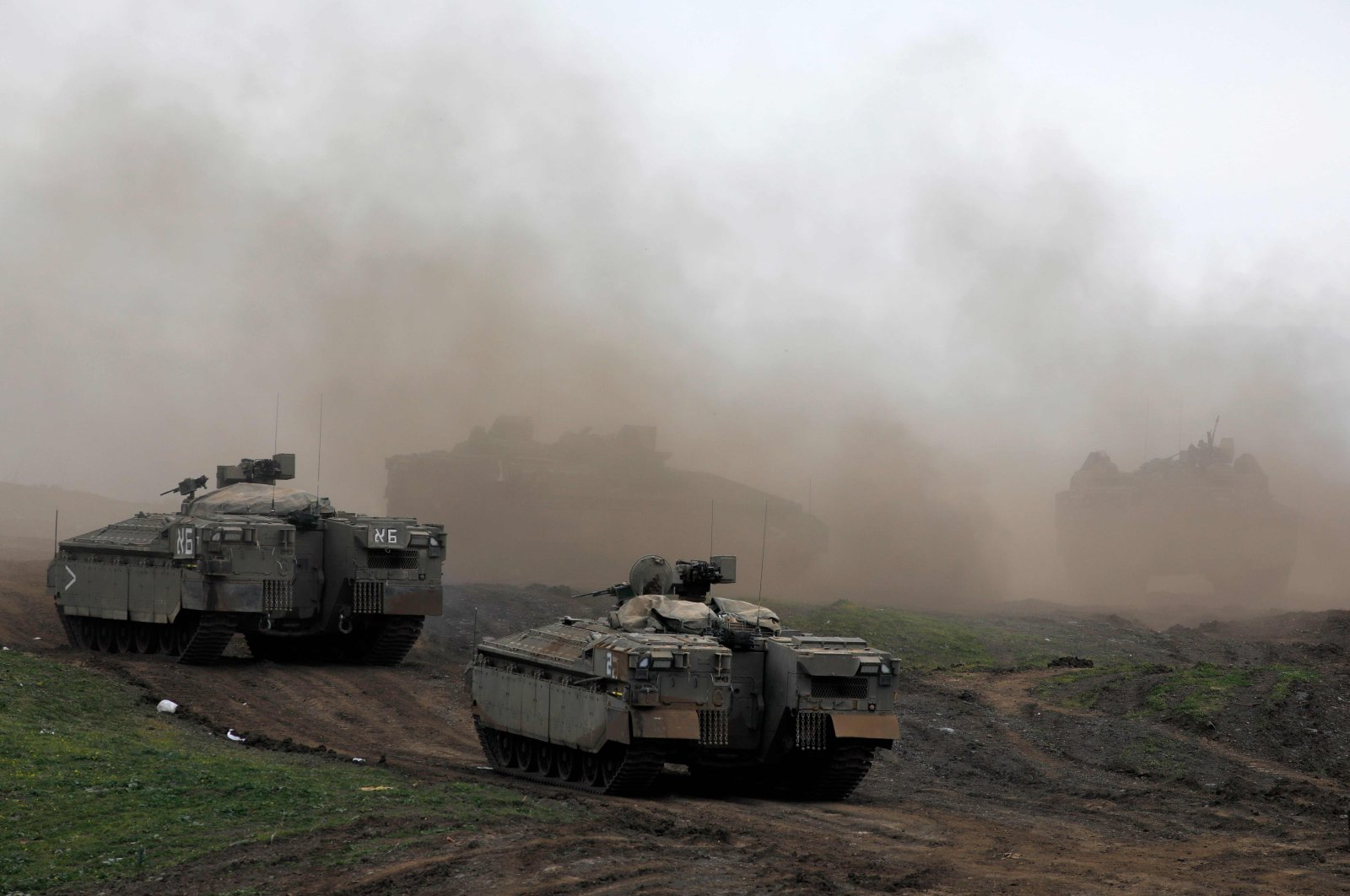 Israeli troops during a military drill in the Israeli-annexed Golan Heights, Syria, Jan. 13, 2021. (AFP Photo)