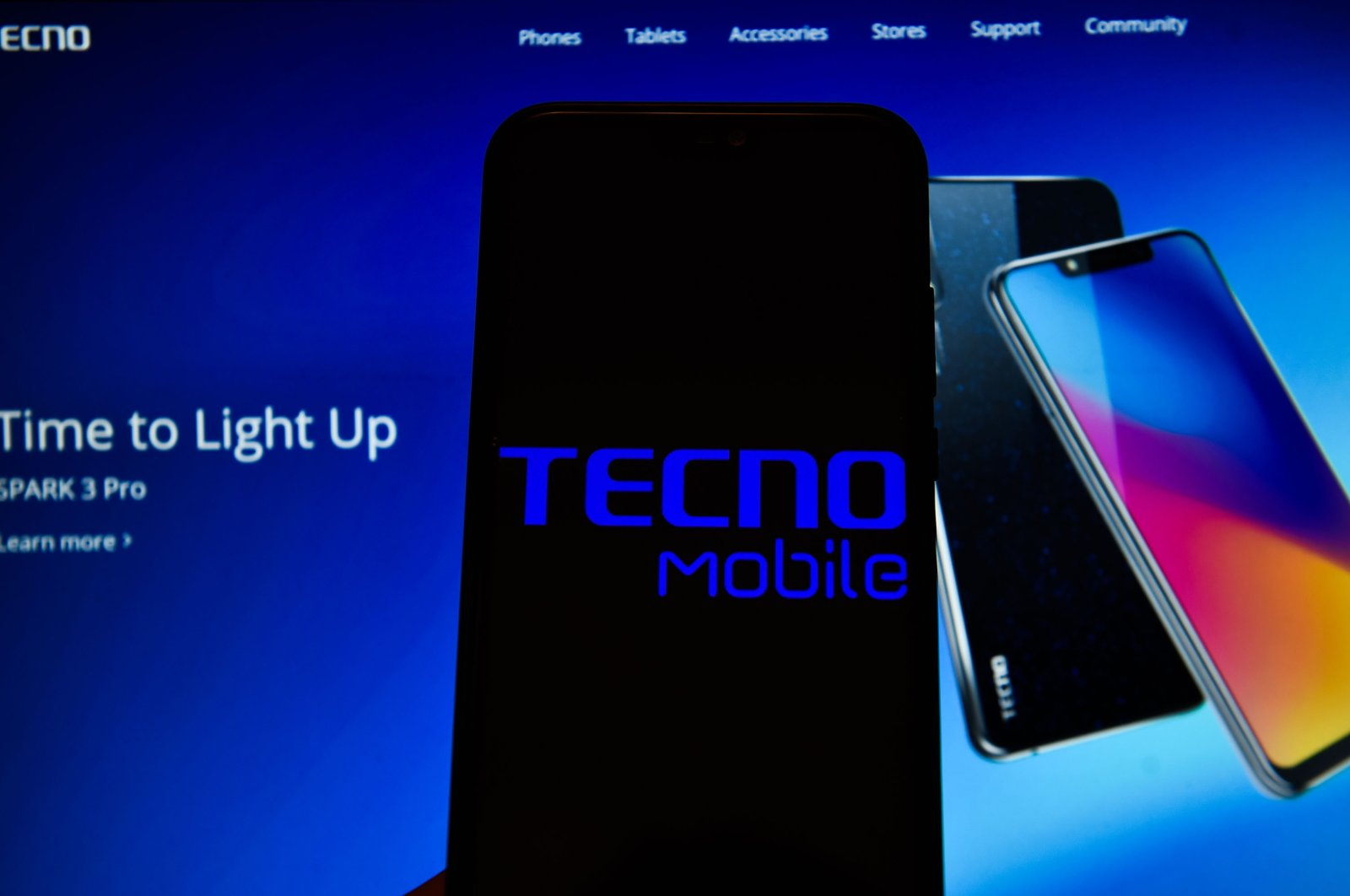 In this photo illustration, a Tecno Mobile logo is displayed on a smartphone, Poland, May 13, 2019. (Getty Images)