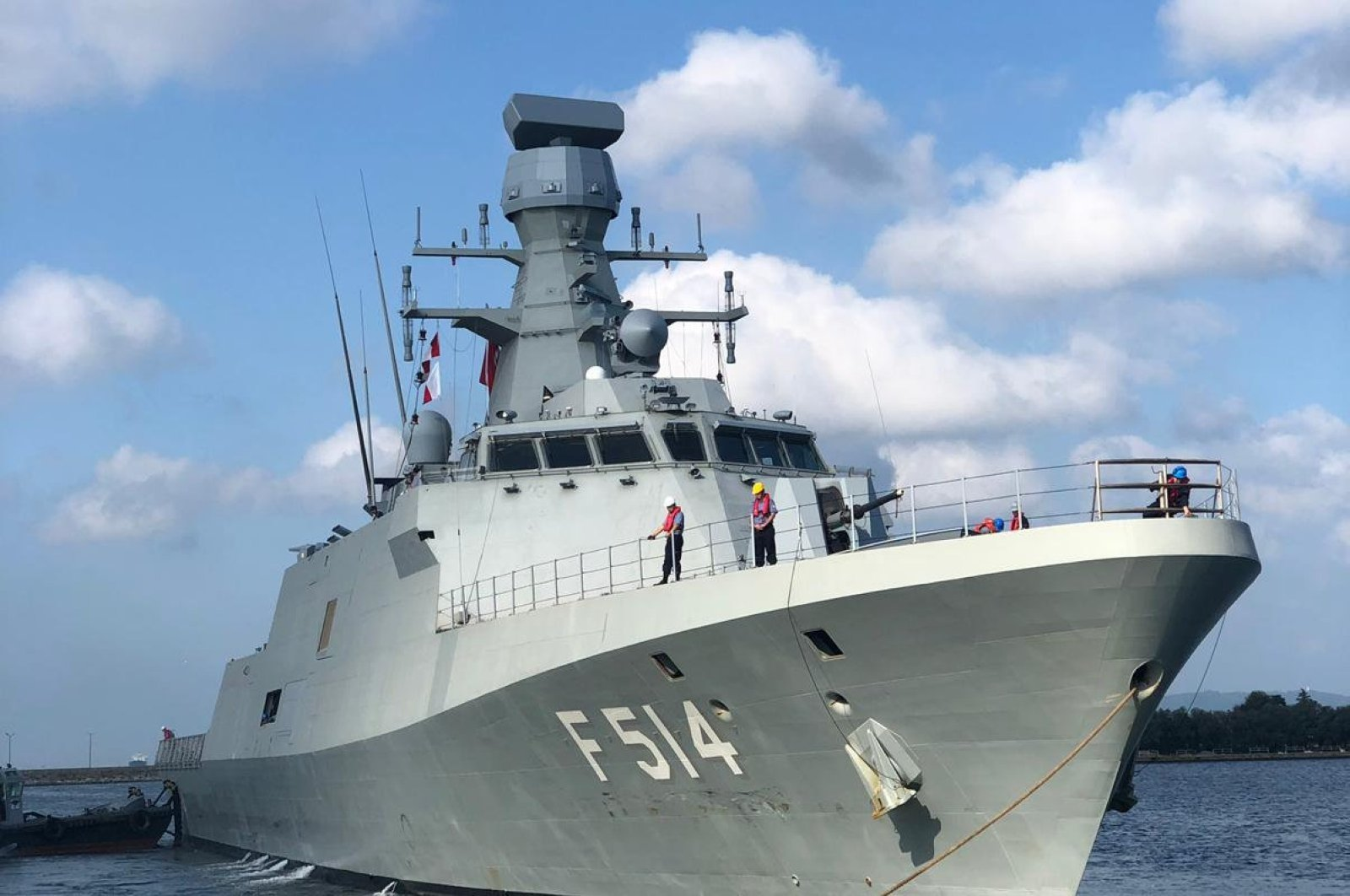 The TCG Kınalıada was the fourth vessel produced as part of the National Ship (MILGEM) project, Oct. 1, 2019. (AA Photo)
