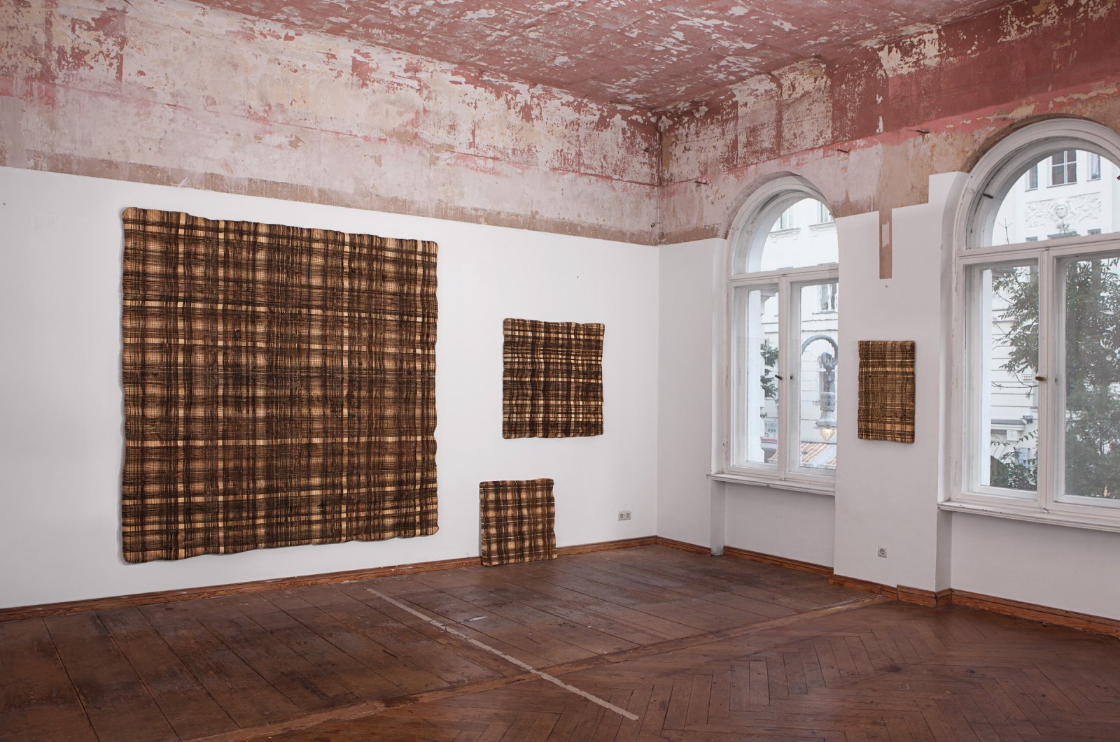 """A view of Mathias Hornung's """"Defragmentology"""" exhibition. (Photo Courtesy of Anna Laudel)"""