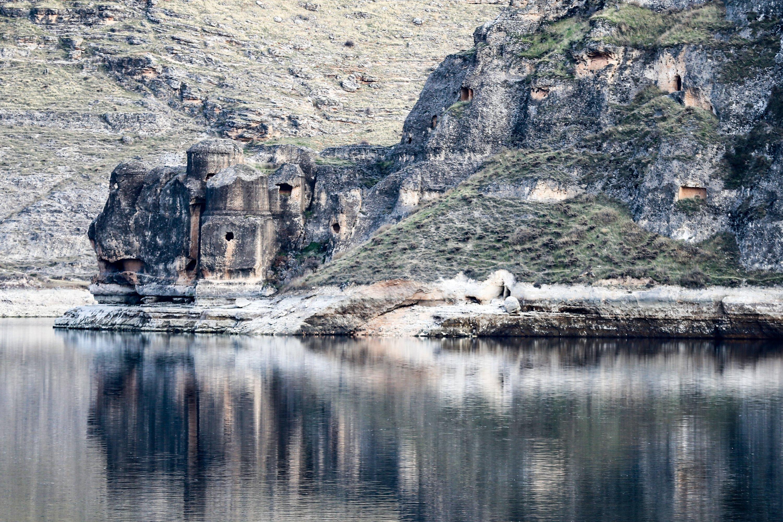 The King Tombs beside the shore of Kralkızı Dam Lake, in the Eğil district of Diyarbakır province, southeastern Turkey, Jan. 18, 2021. (AA Photo)